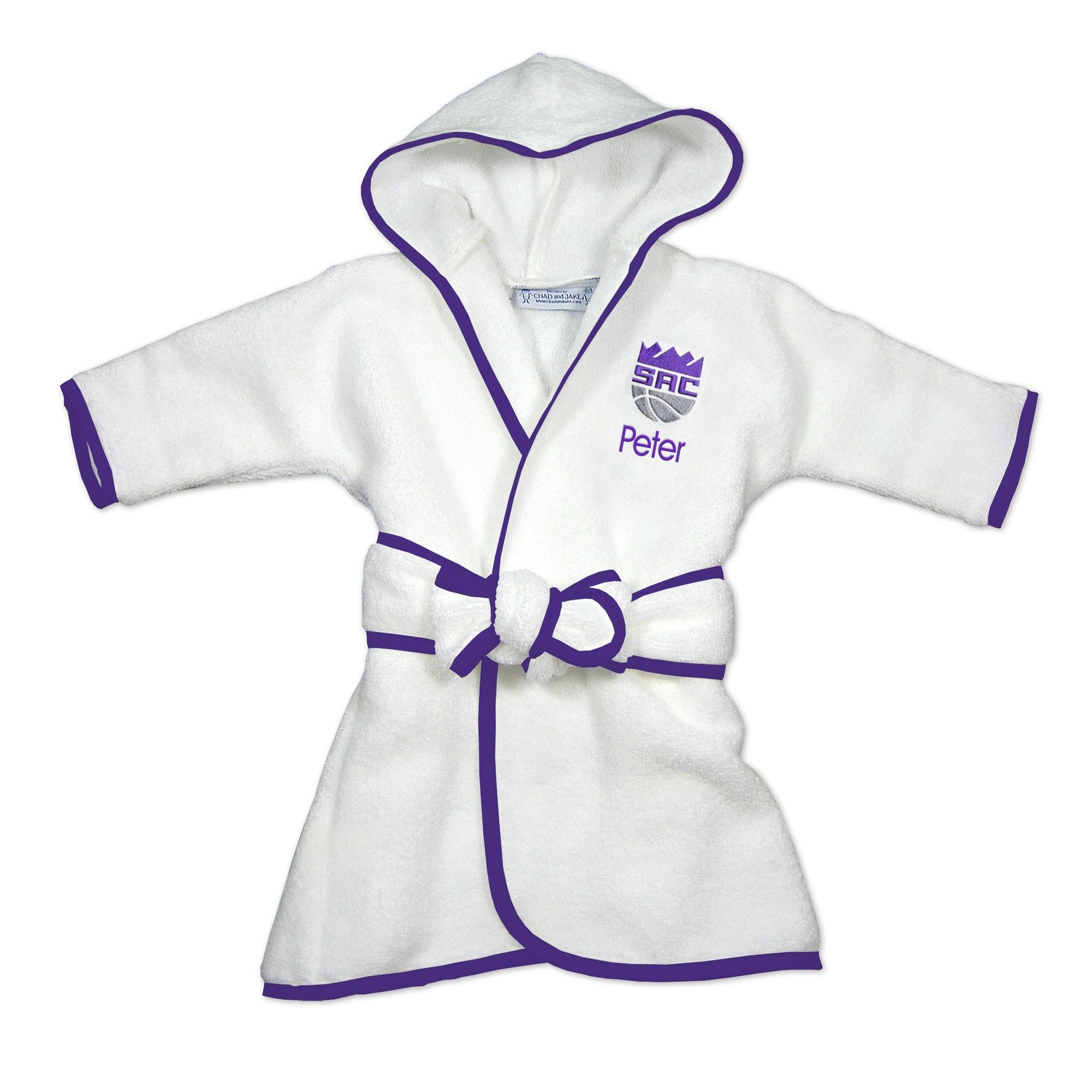 Sacramento Kings Infant Personalized Robe - White