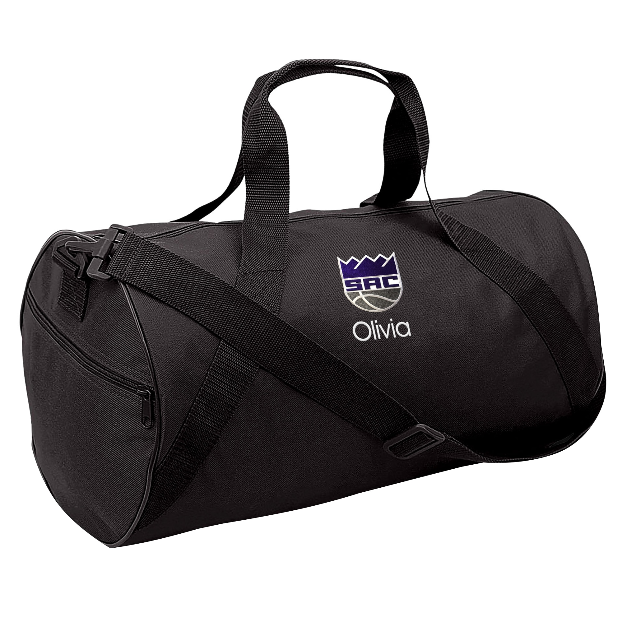 Sacramento Kings Youth Personalized Duffle Bag - Black