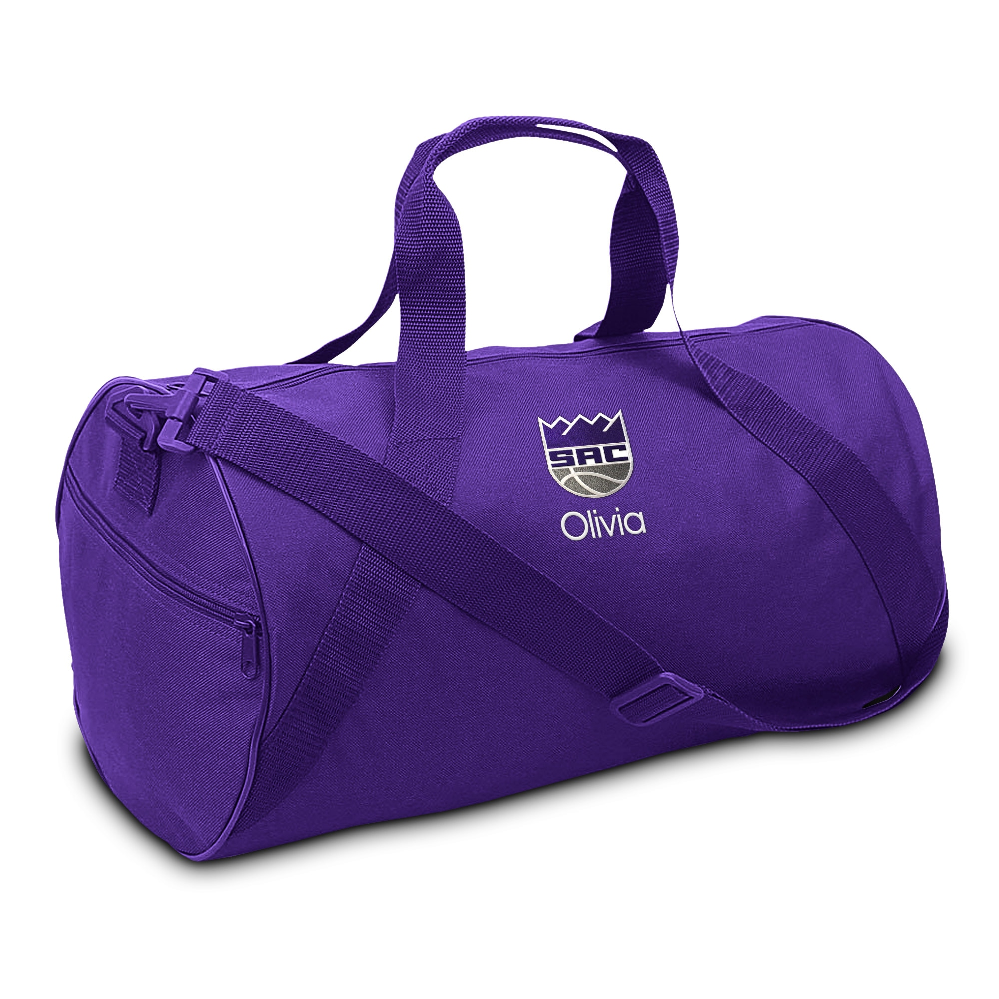Sacramento Kings Youth Personalized Duffel Bag - Purple