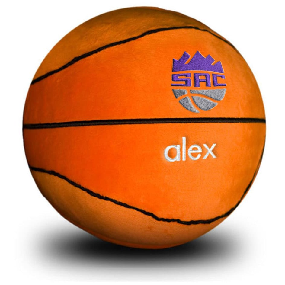 Sacramento Kings Personalized Plush Baby Basketball - Orange