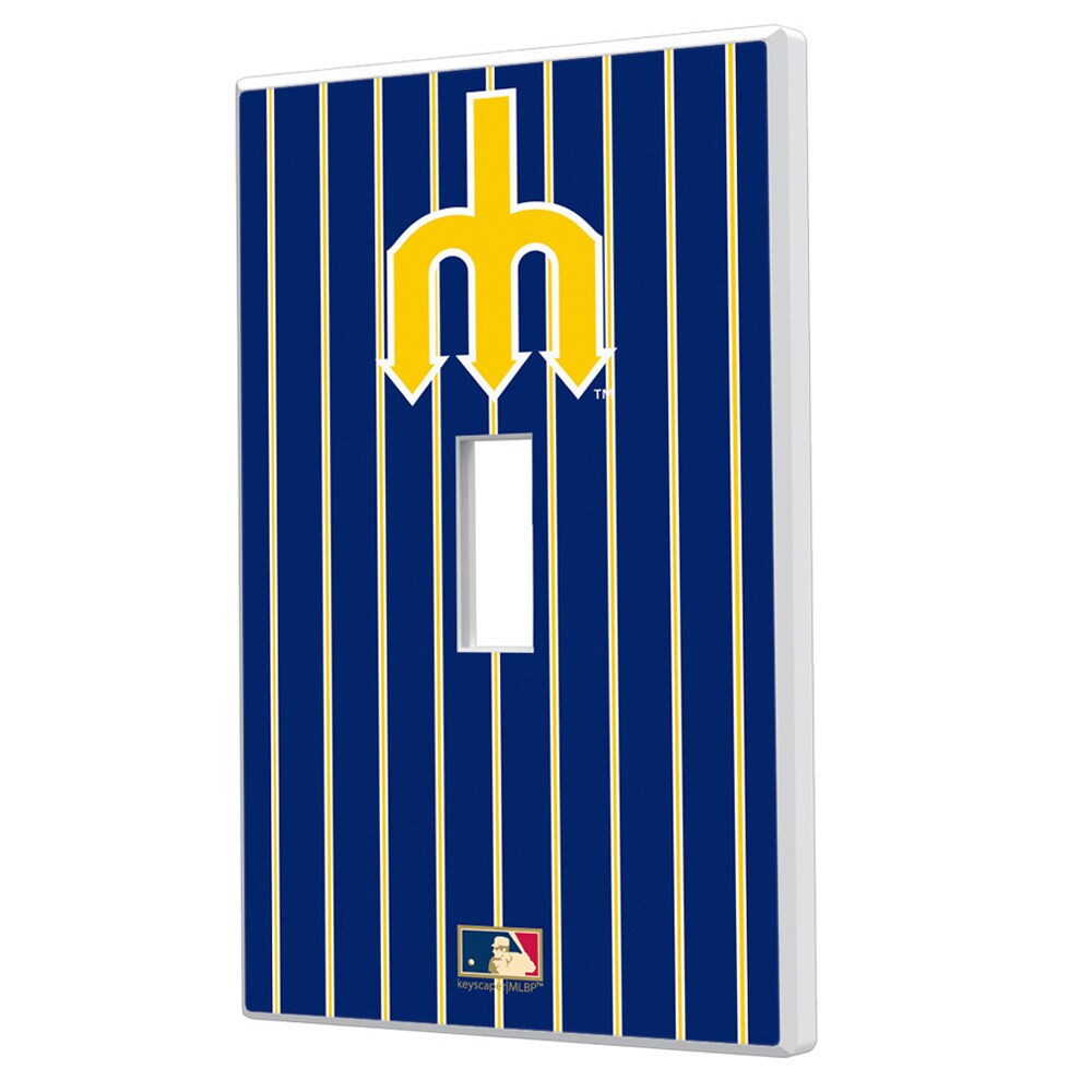 Seattle Mariners 1977-1980 Cooperstown Pinstripe Single Toggle Light Switch Plate
