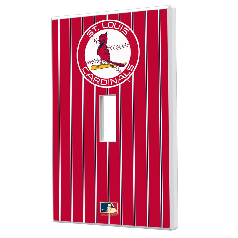 St. Louis Cardinals 1966-1997 Cooperstown Pinstripe Single Toggle Light Switch Plate
