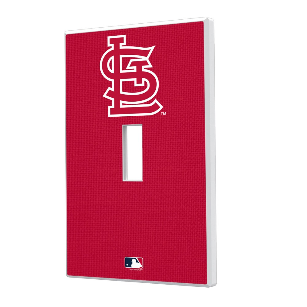 St. Louis Cardinals Solid Single Toggle Light Switch Plate
