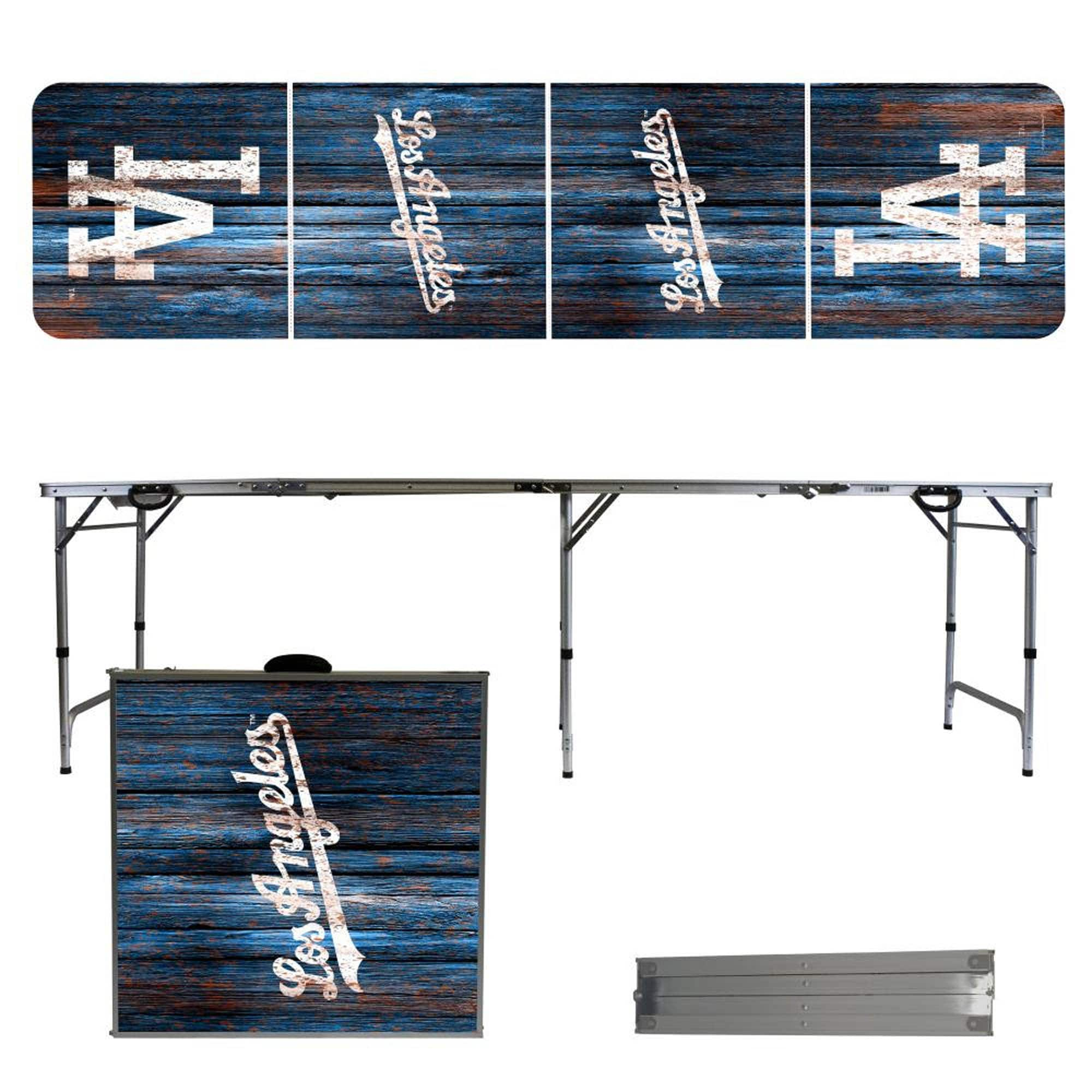 Los Angeles Dodgers Weathered Design 8' Portable Folding Tailgate Table