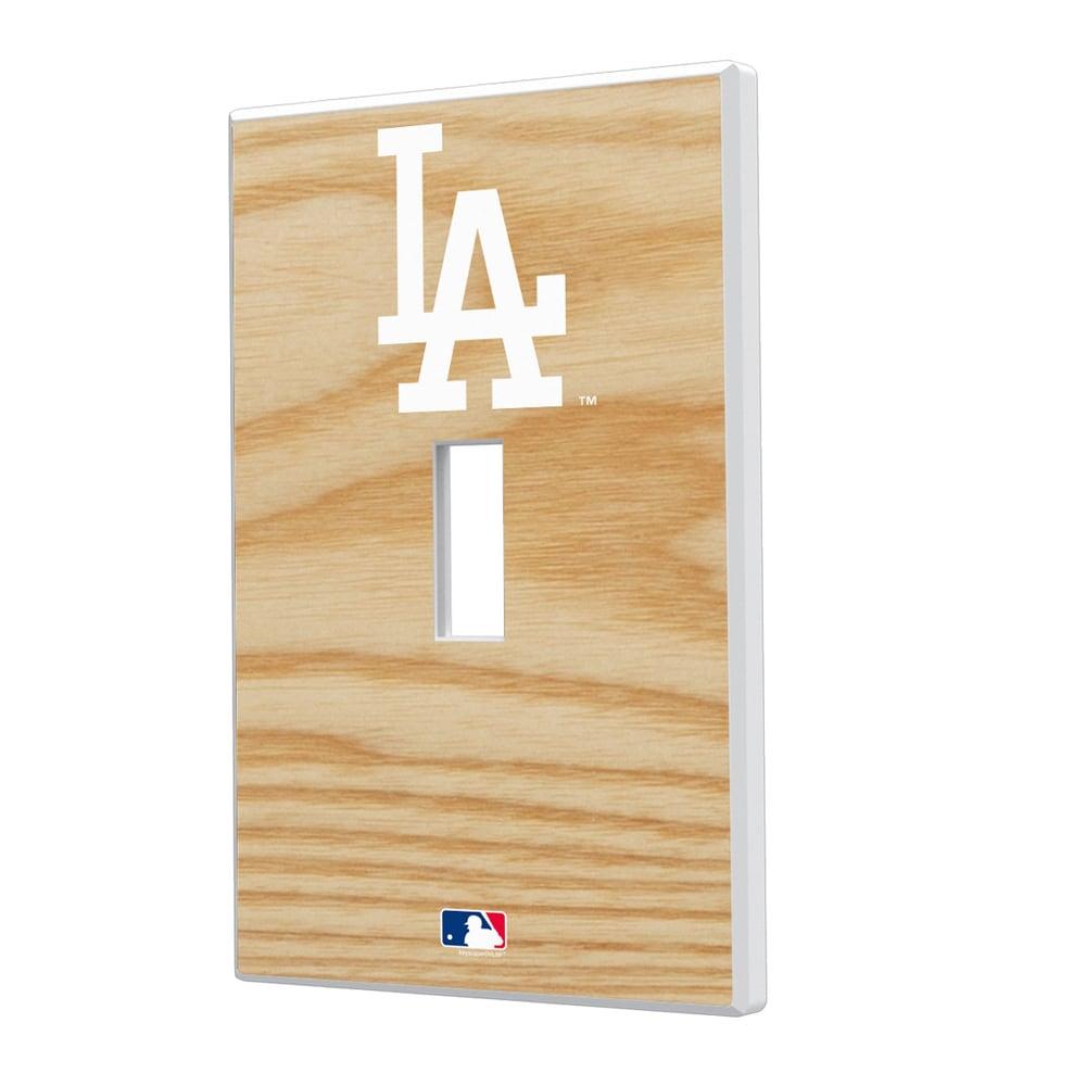 Los Angeles Dodgers Baseball Bat Design Single Toggle Light Switch Plate