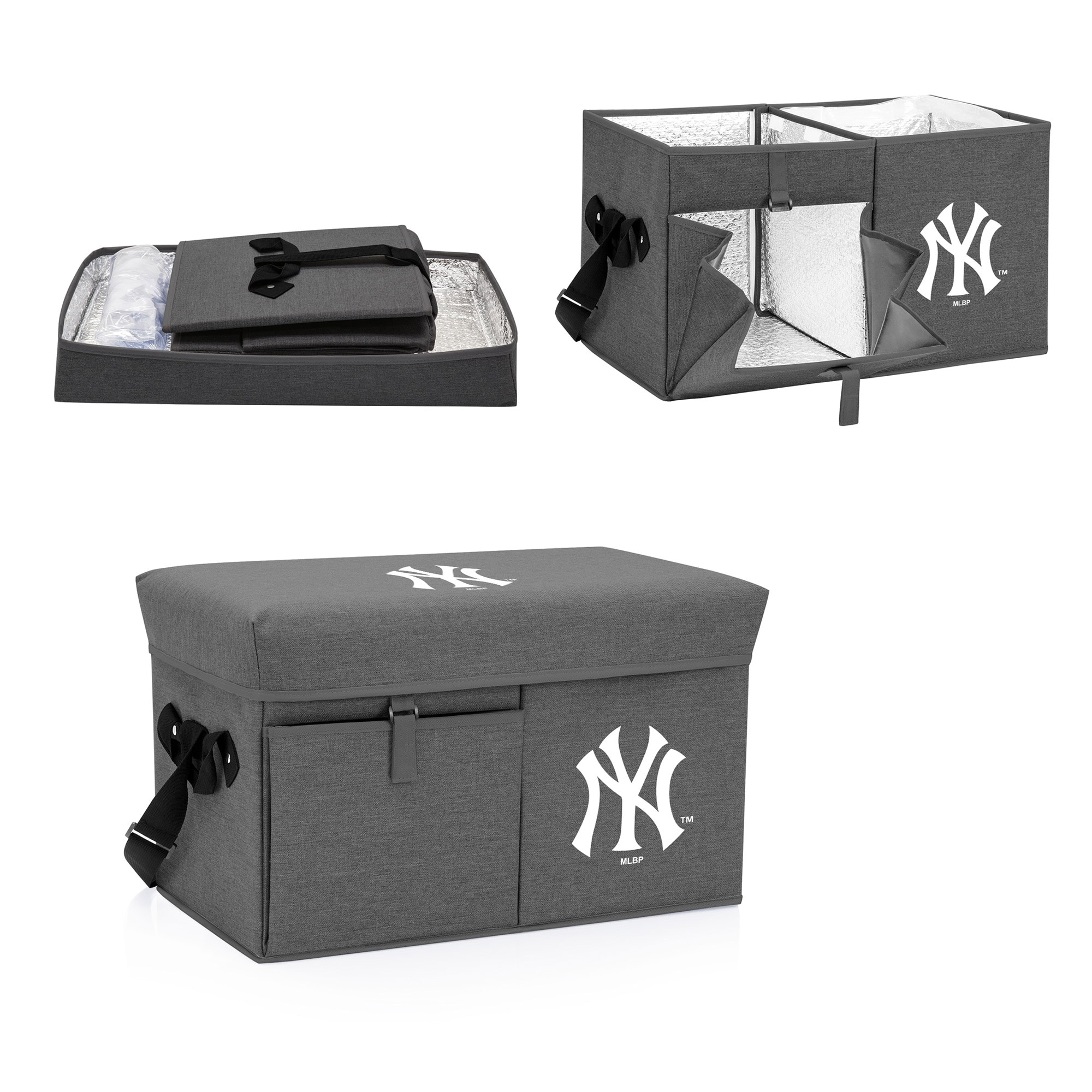 New York Yankees Ottoman Cooler & Seat - Gray