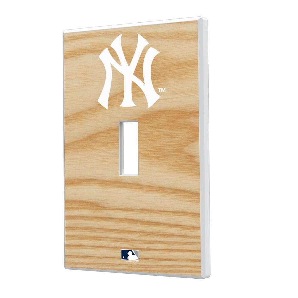 New York Yankees Baseball Bat Design Single Toggle Light Switch Plate