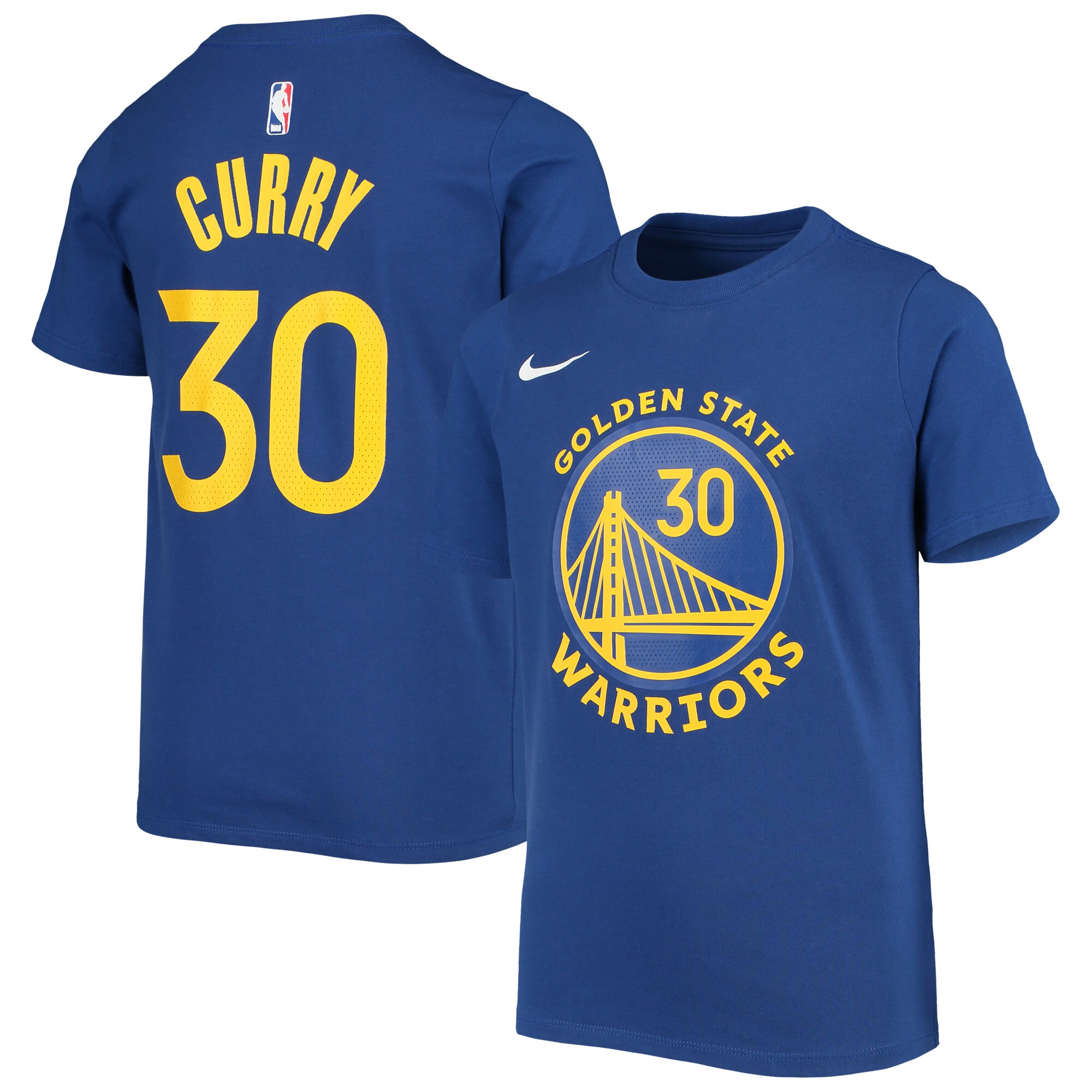 Stephen Curry Golden State Warriors Nike Youth Name & Number T-Shirt - Blue
