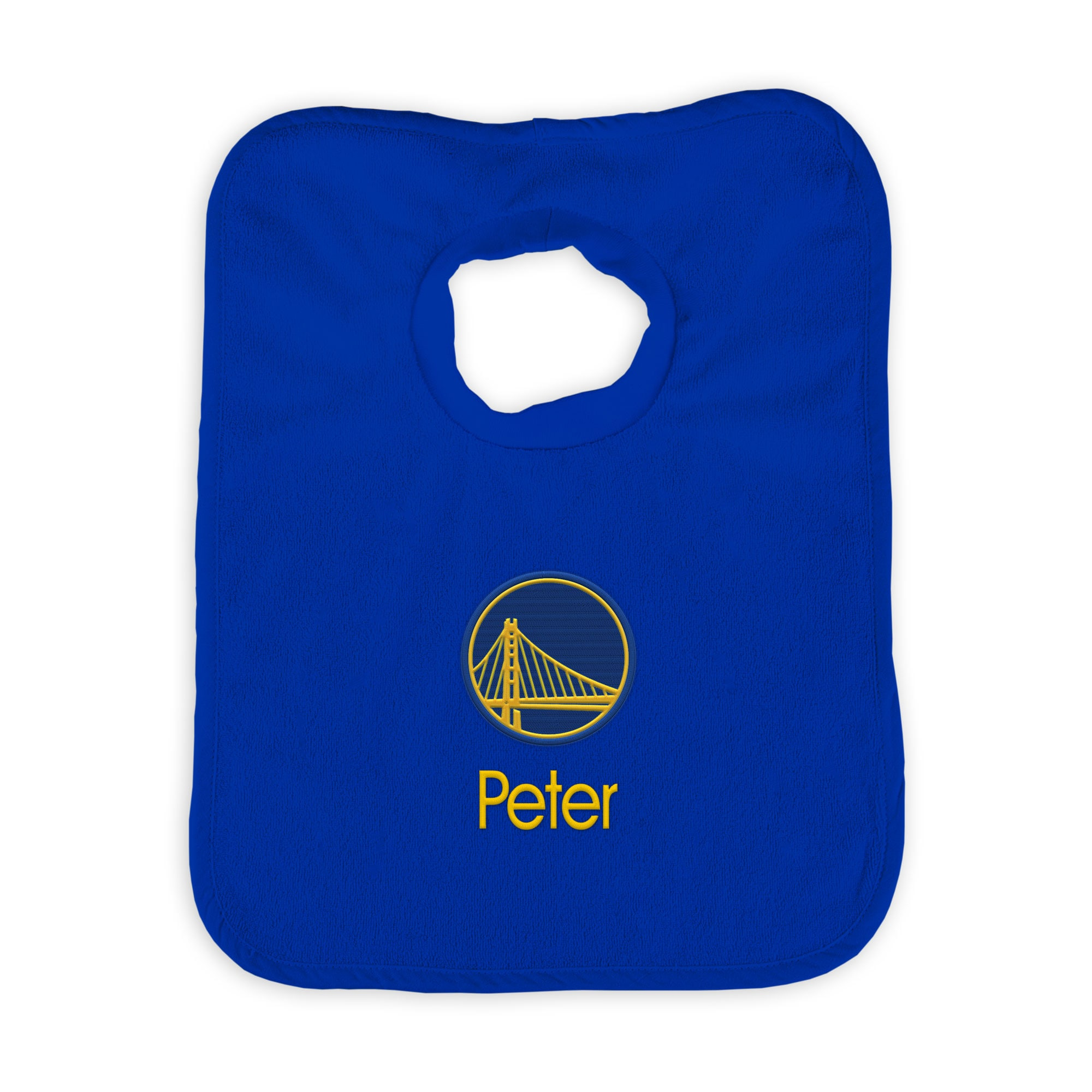 Golden State Warriors Newborn & Infant Personalized Bib - White