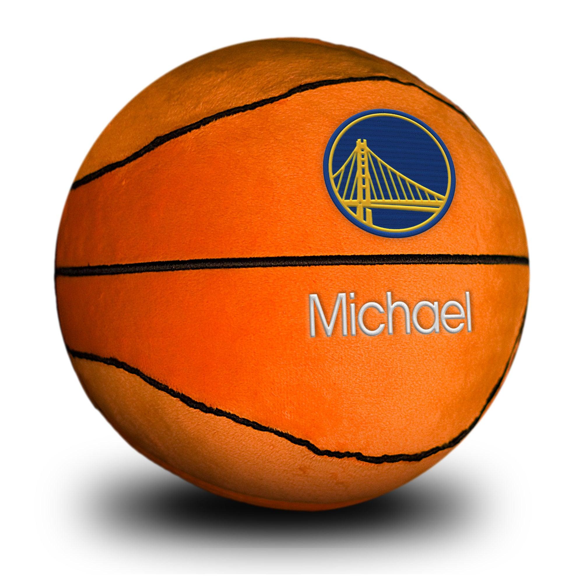 Golden State Warriors Personalized Plush Baby Basketball - Orange