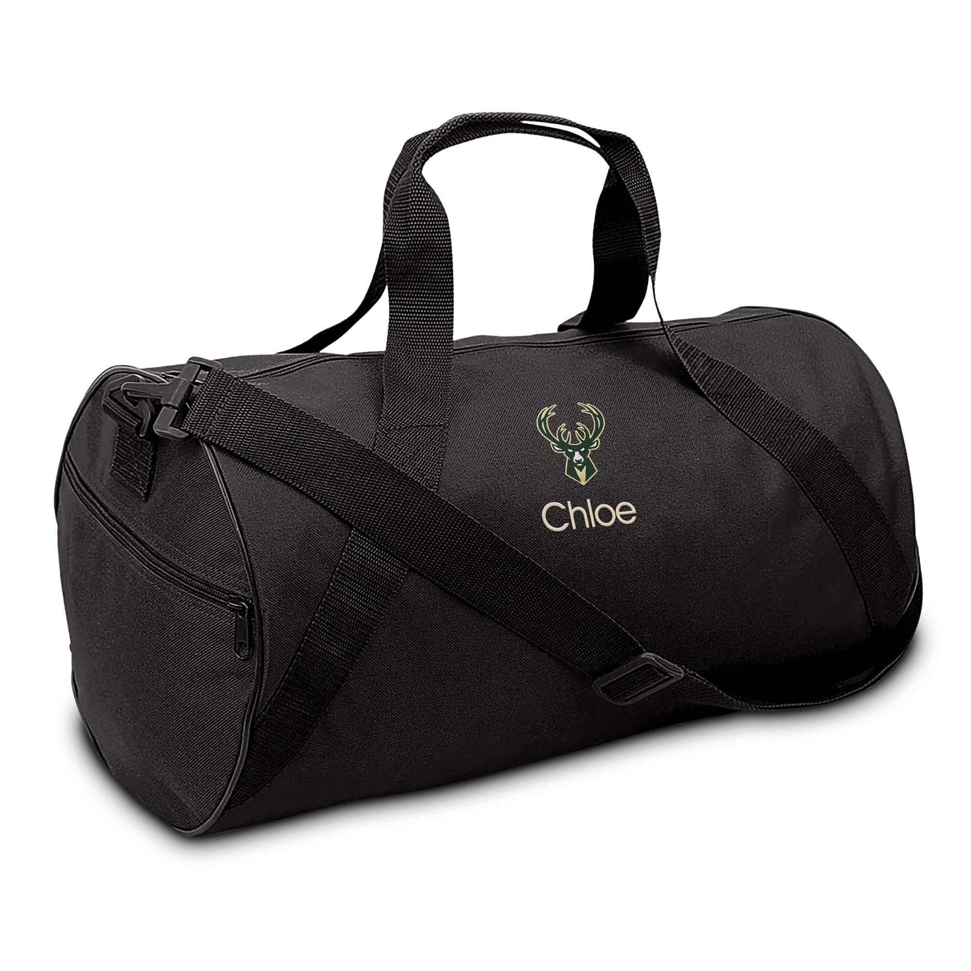 Milwaukee Bucks Youth Personalized Duffel Bag - Black
