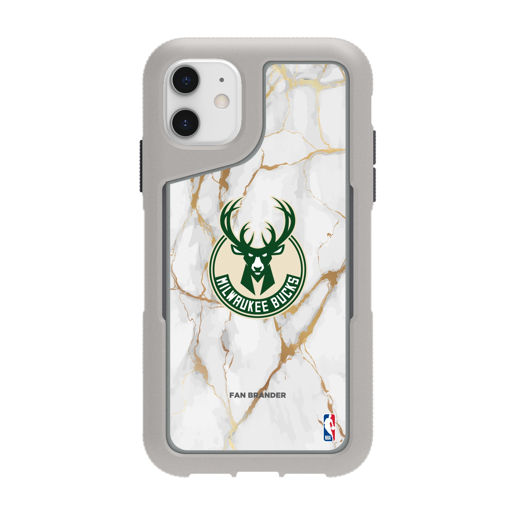 Milwaukee Bucks Griffin Survivor Endurance Marble iPhone Case - Gray