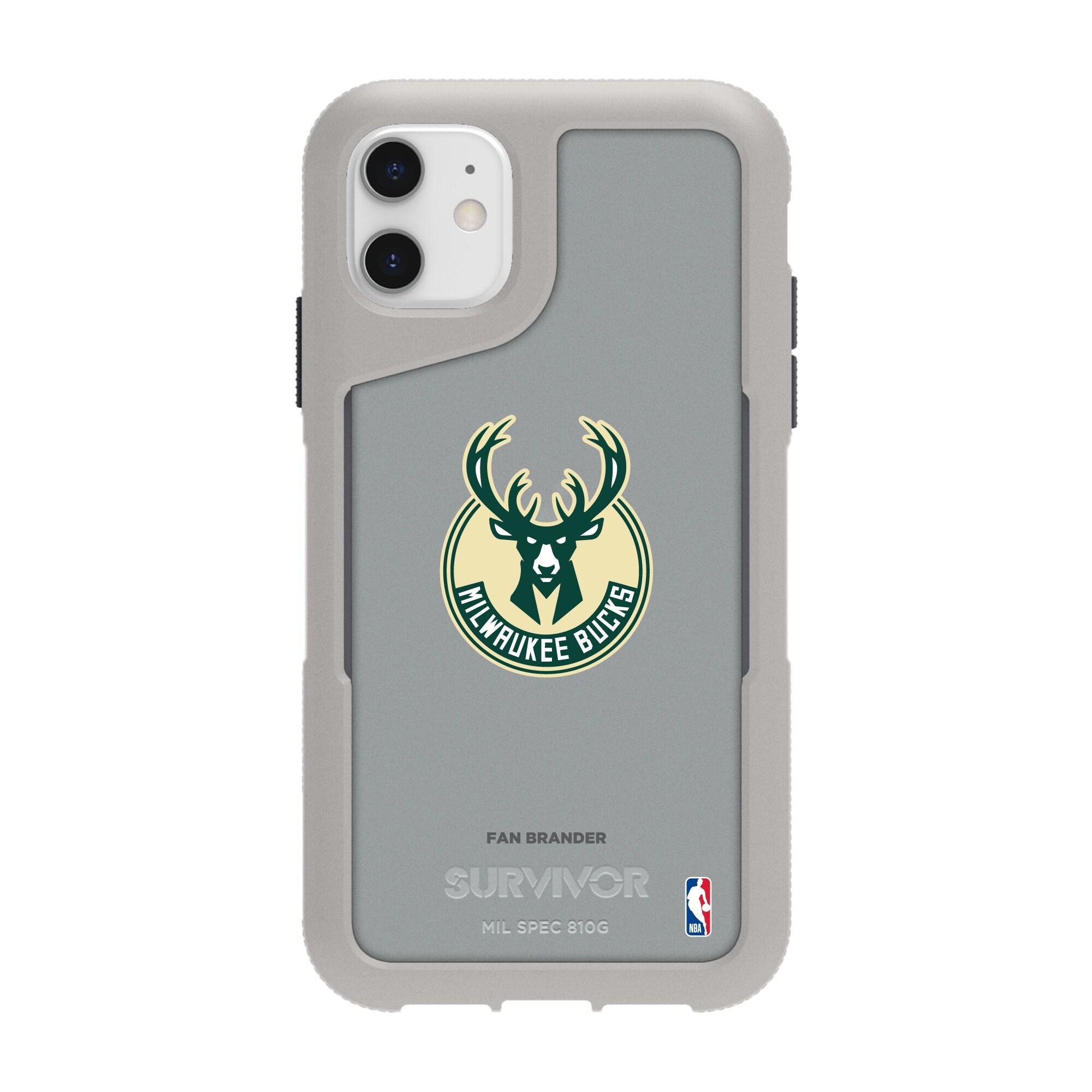 Milwaukee Bucks Griffin Survivor Endurance iPhone Case - Gray