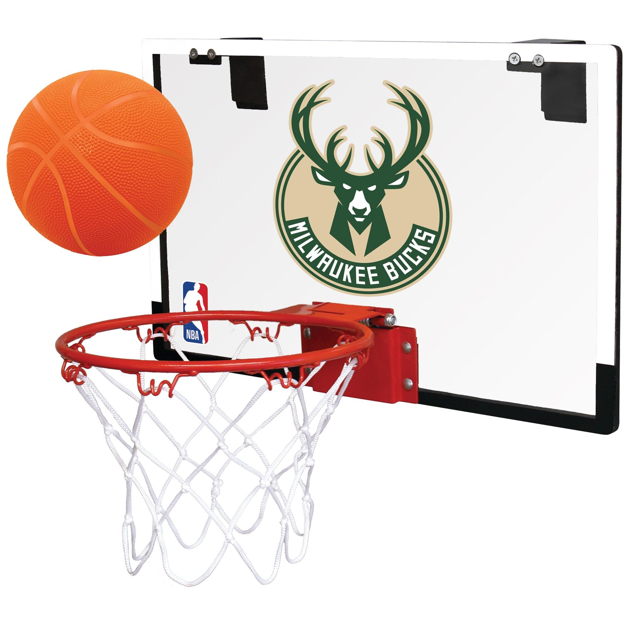 Milwaukee Bucks Rawlings NBA Polycarbonate Hoop Set