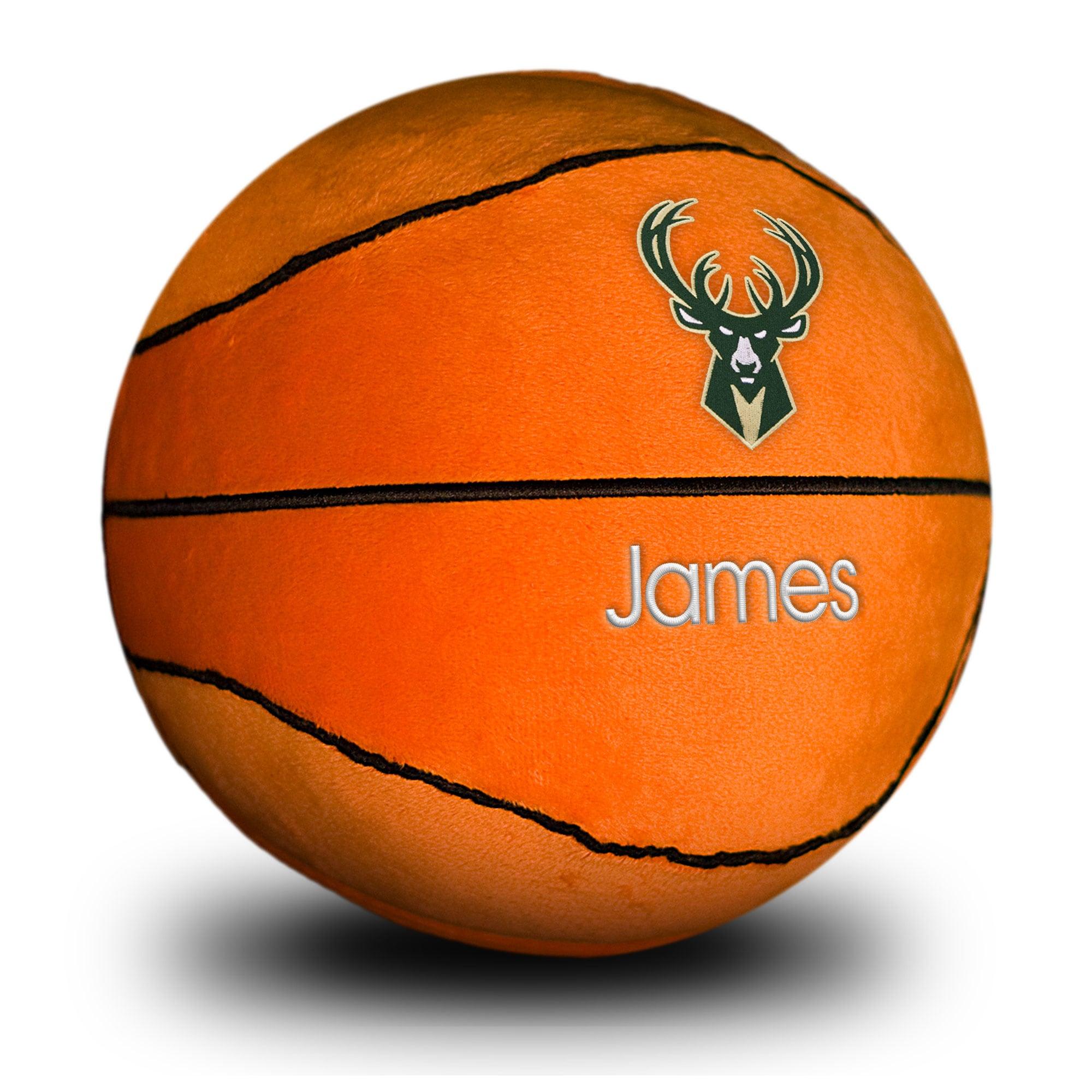 Milwaukee Bucks Personalized Plush Baby Basketball - Orange