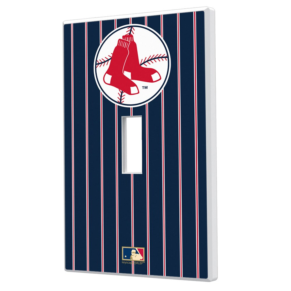 Boston Red Sox 1970-1975 Cooperstown Pinstripe Single Toggle Light Switch Plate
