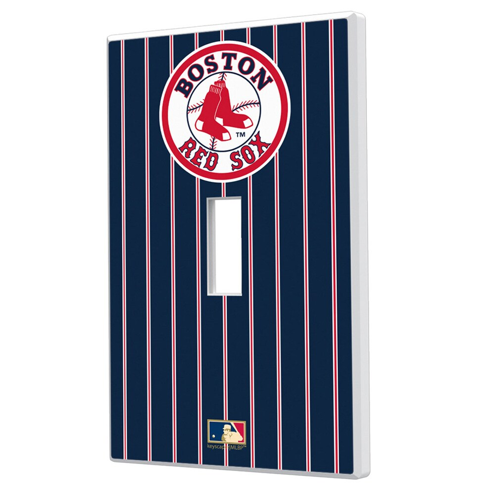 Boston Red Sox 1976-2008 Cooperstown Pinstripe Single Toggle Light Switch Plate