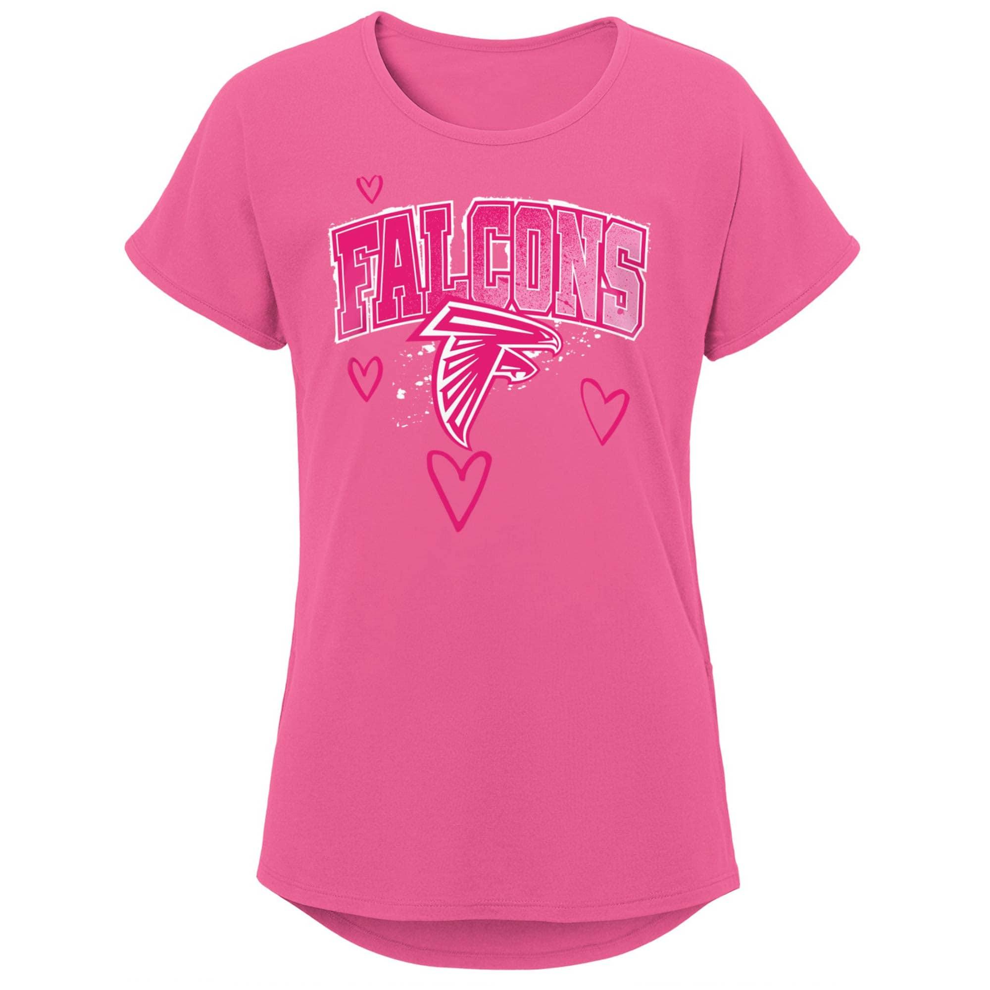 Atlanta Falcons Girls Youth Go-Getter T-Shirt - Pink