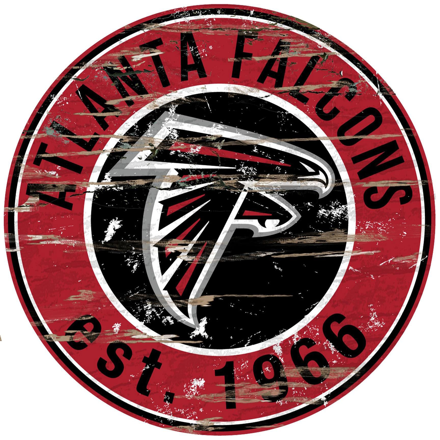 "Atlanta Falcons 23.5"" Distressed Round Sign"