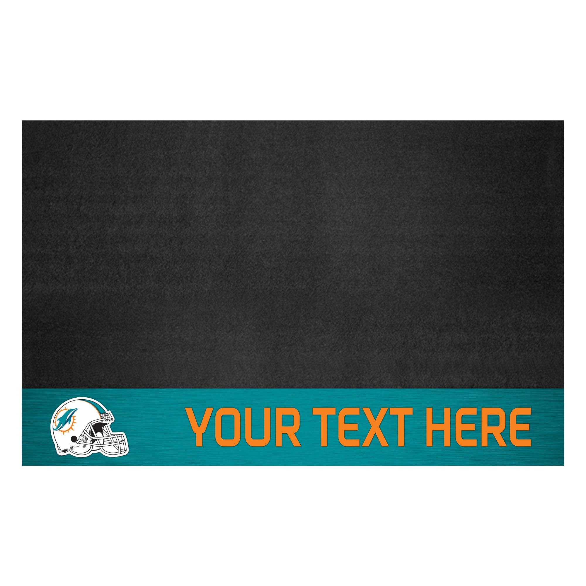 Miami Dolphins 26'' x 42'' Personalized Vinyl Grill Mat