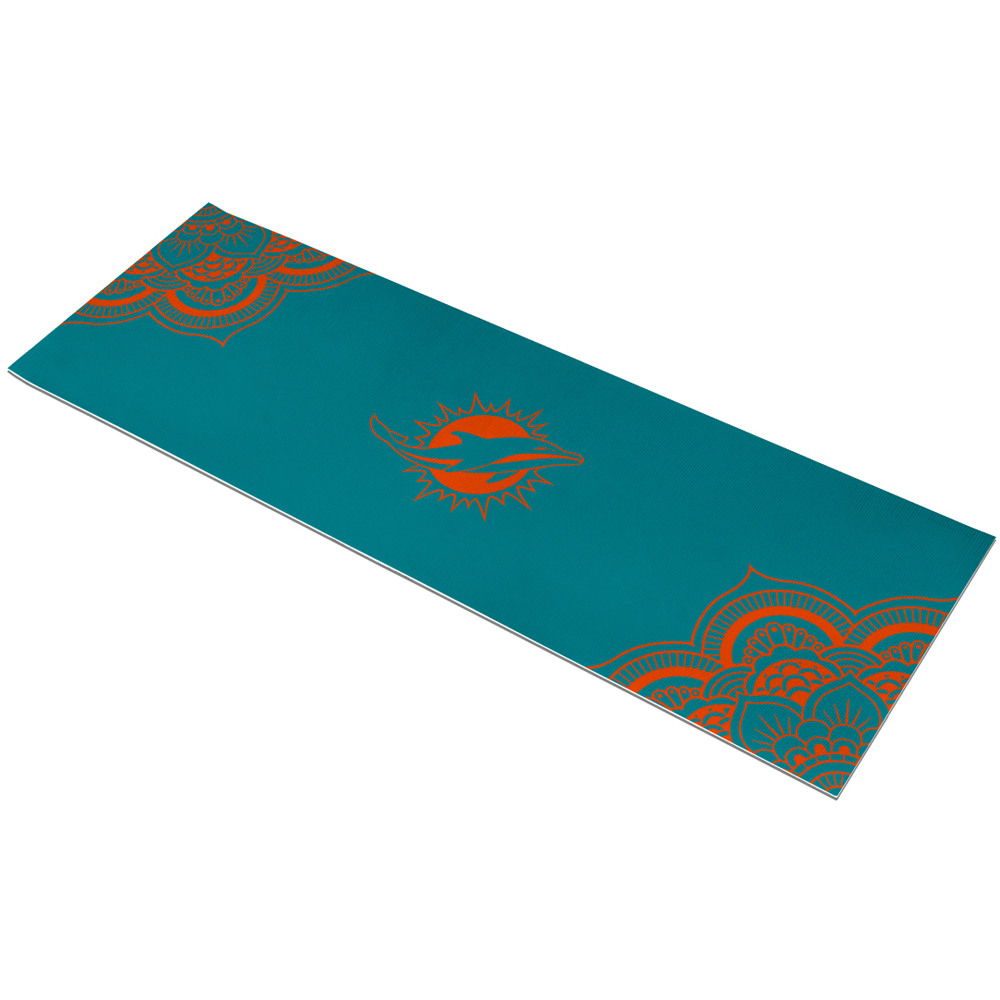 Miami Dolphins 72'' Color Design Yoga Mat