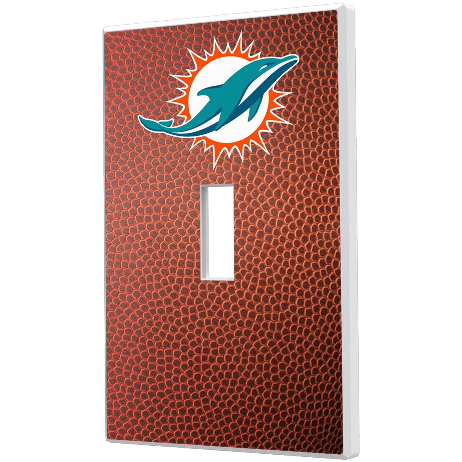 Miami Dolphins Football Design Single Toggle Light Switch Plate