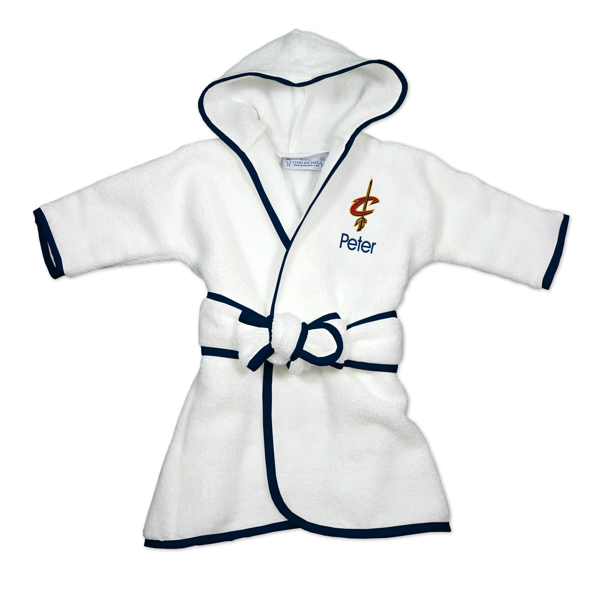 Cleveland Cavaliers Infant Personalized Robe - White