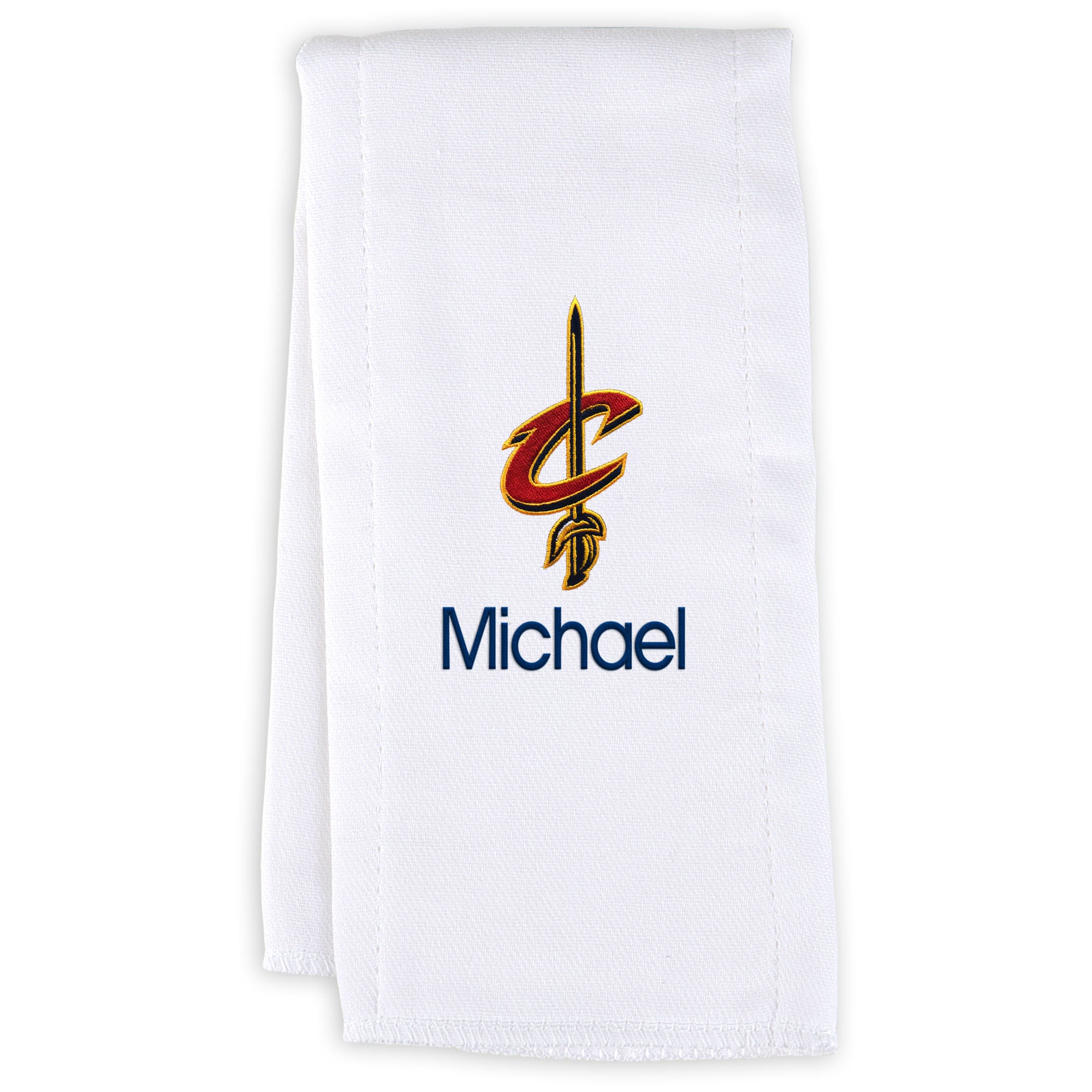 Cleveland Cavaliers Infant Personalized Burp Cloth - White