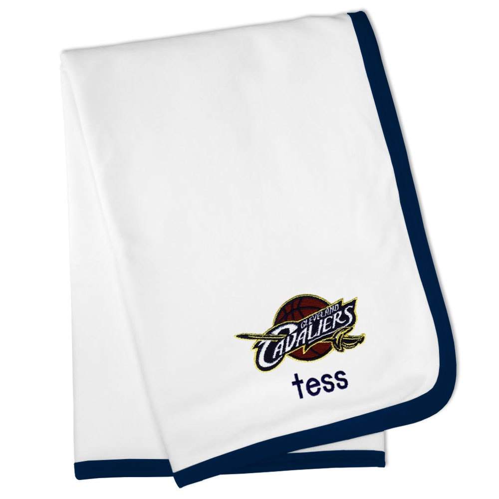 Cleveland Cavaliers Personalized Baby Blanket - White