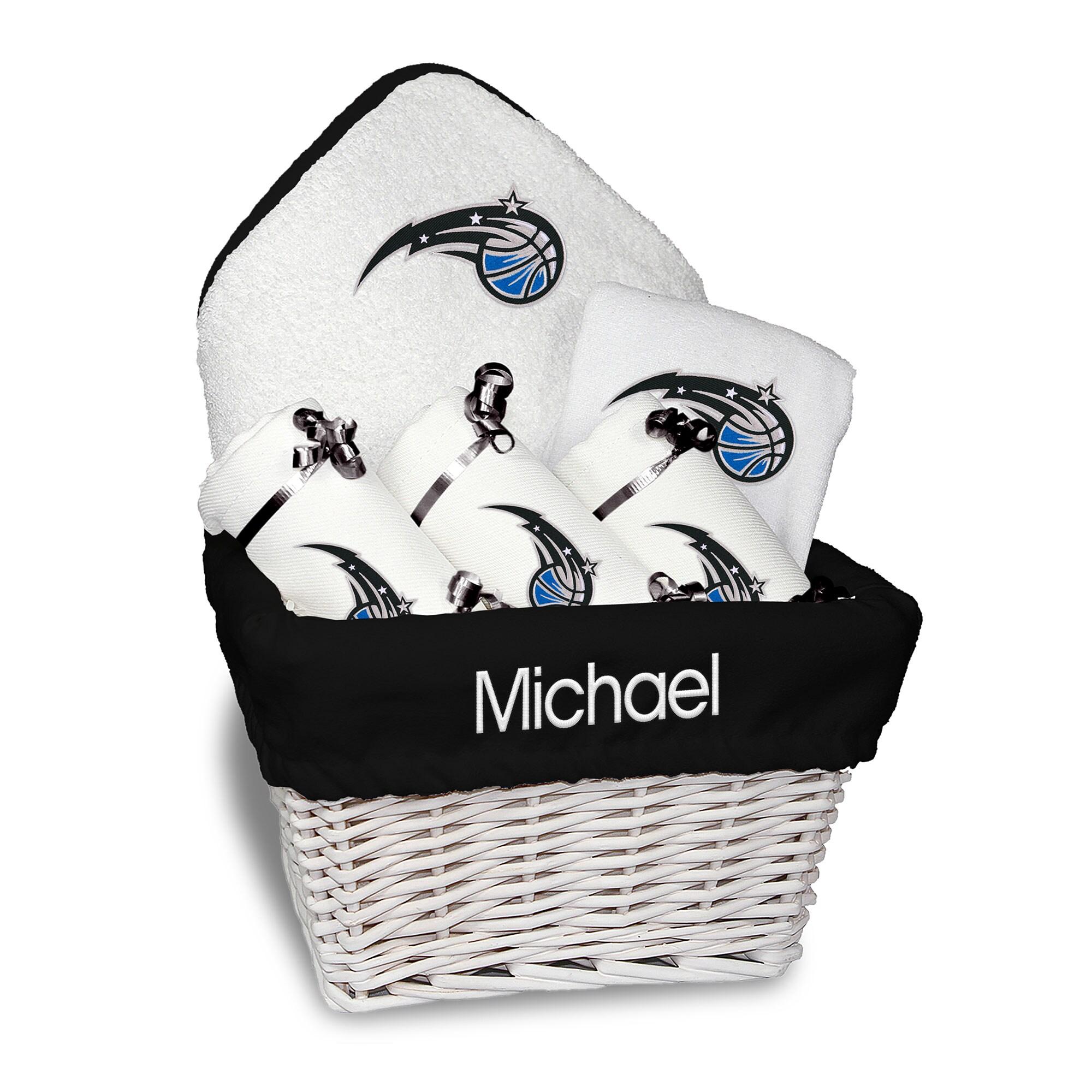 Orlando Magic Newborn & Infant Personalized Medium Gift Basket - White