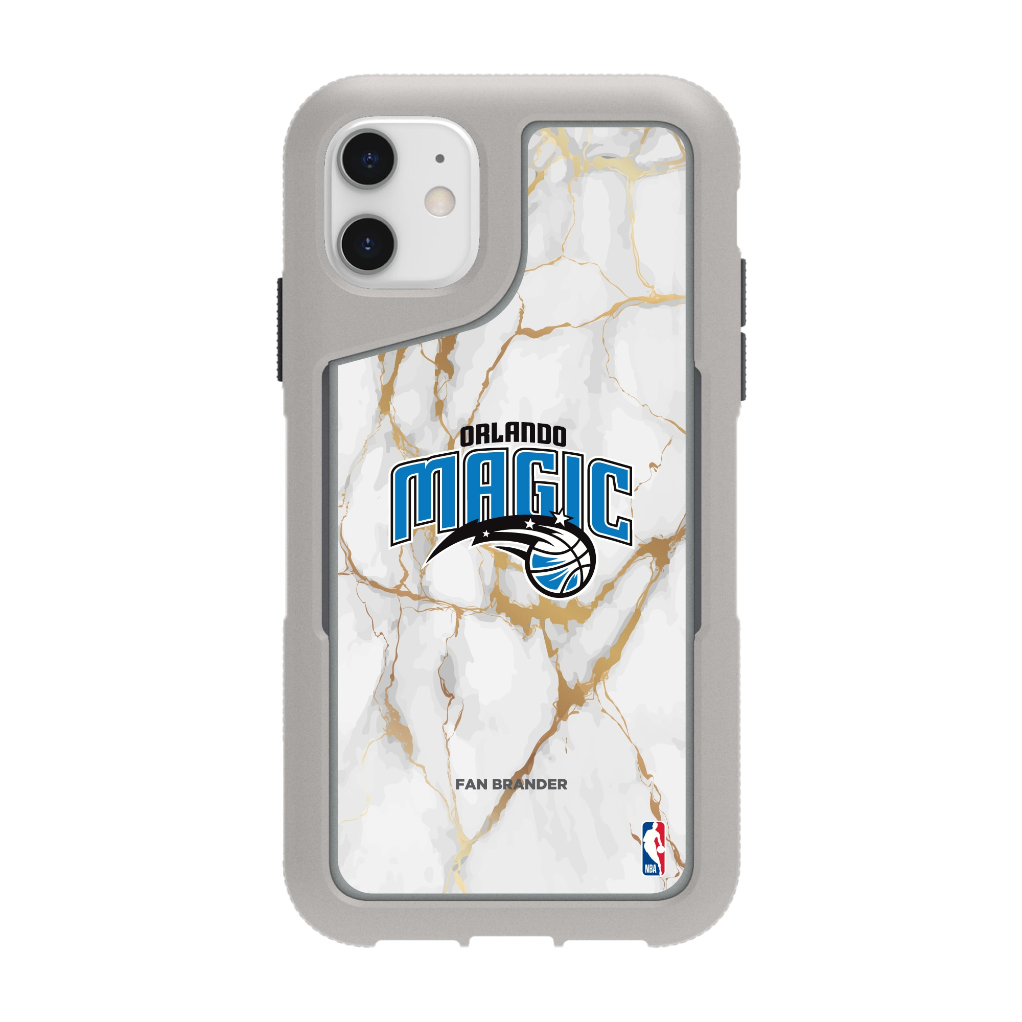 Orlando Magic Griffin Survivor Endurance Marble iPhone Case - Gray