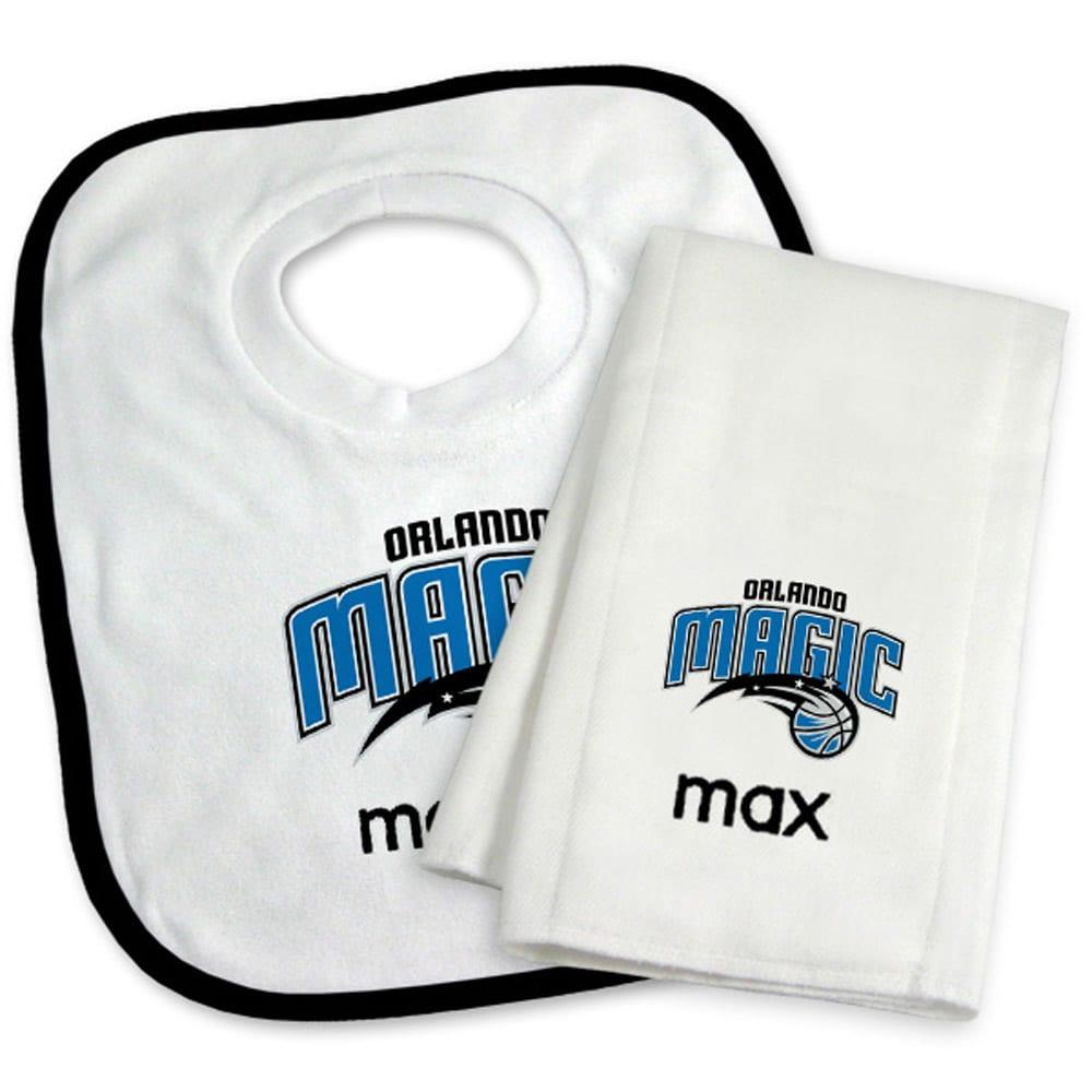Orlando Magic Newborn & Infant Personalized Bib & Burp Cloth Set - White