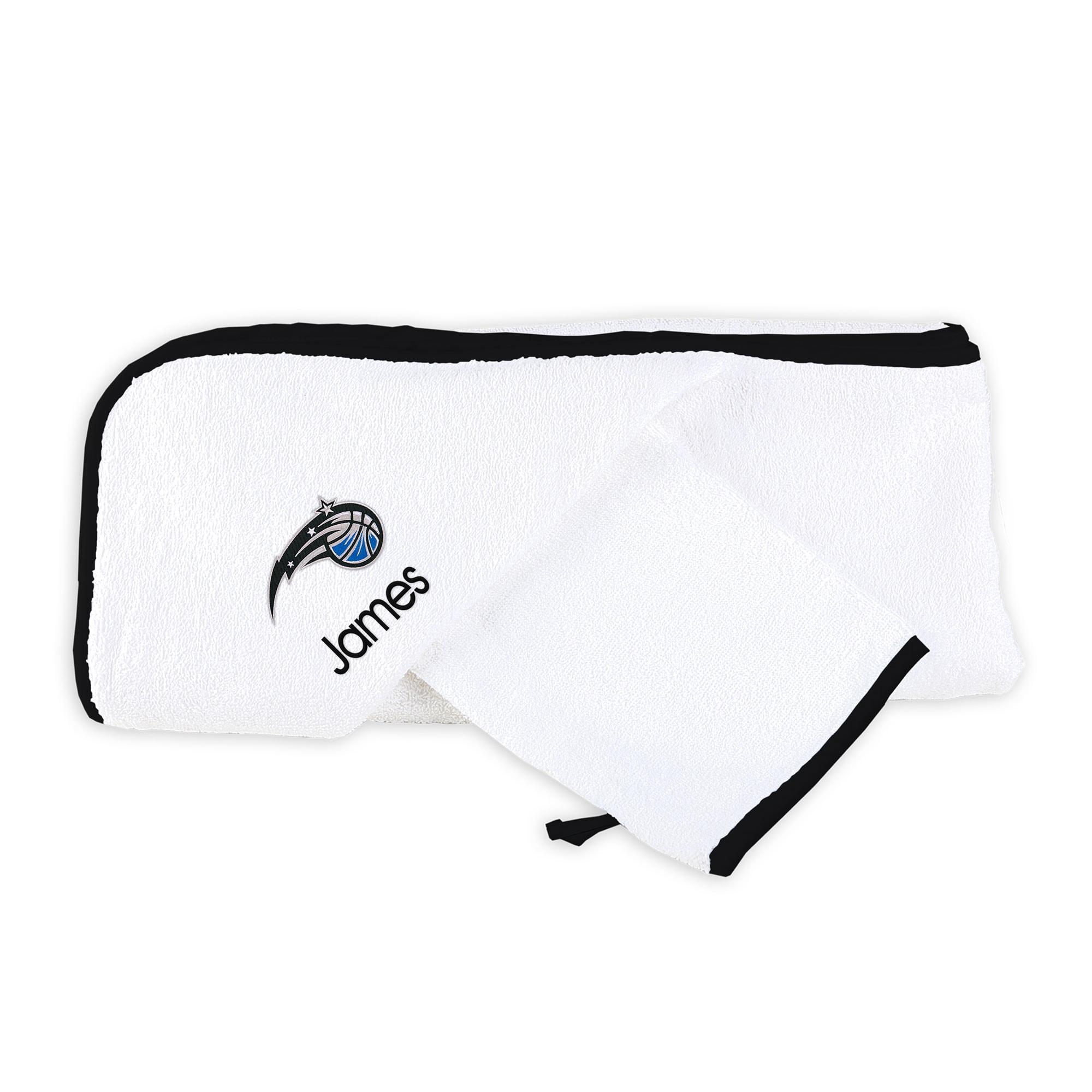Orlando Magic Infant Personalized Hooded Towel & Mitt Set - White