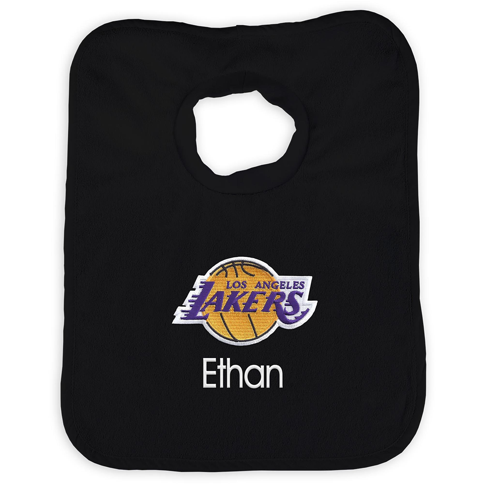 Los Angeles Lakers Infant Personalized Bib - Black