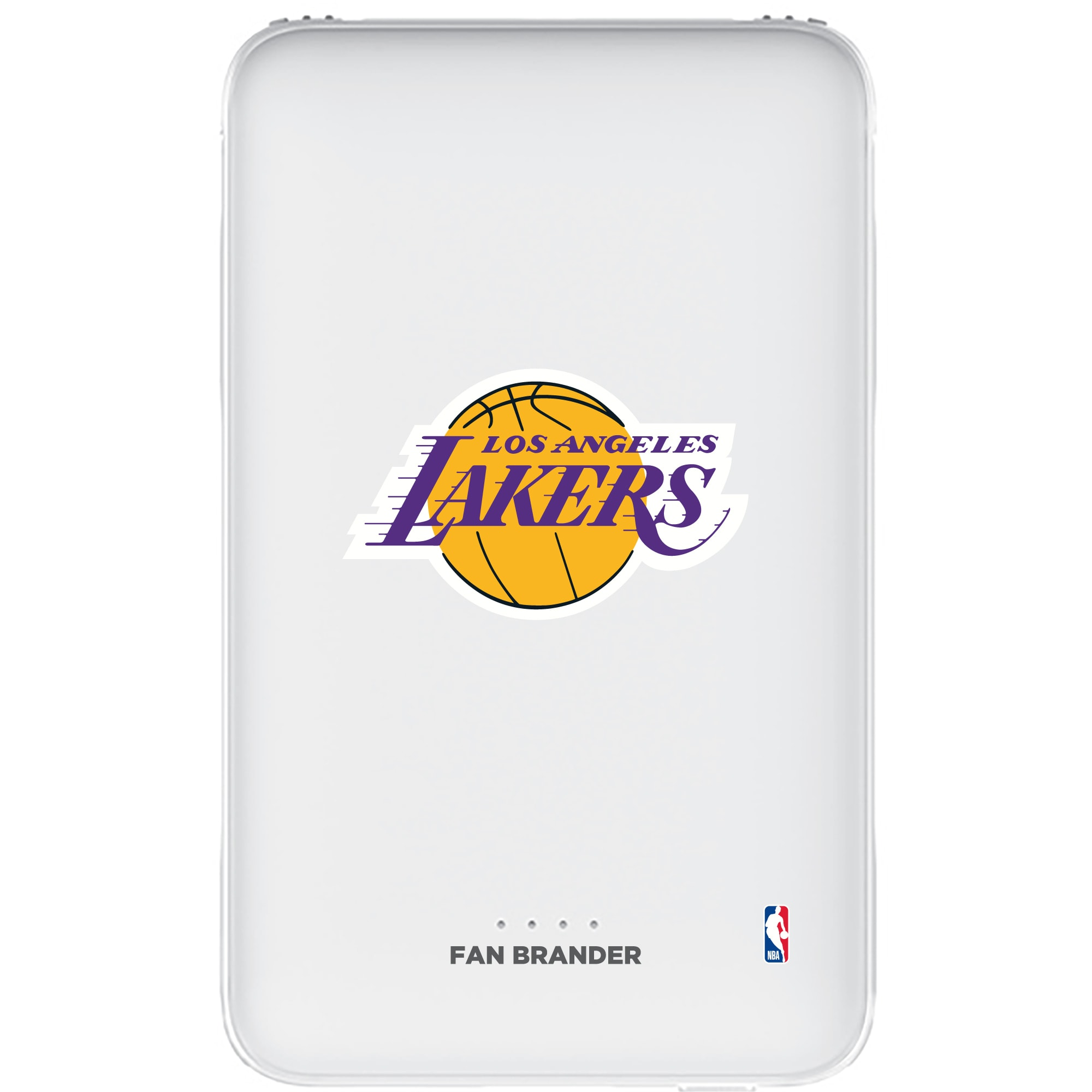 Los Angeles Lakers 5000mAh Portable Power Bank - White