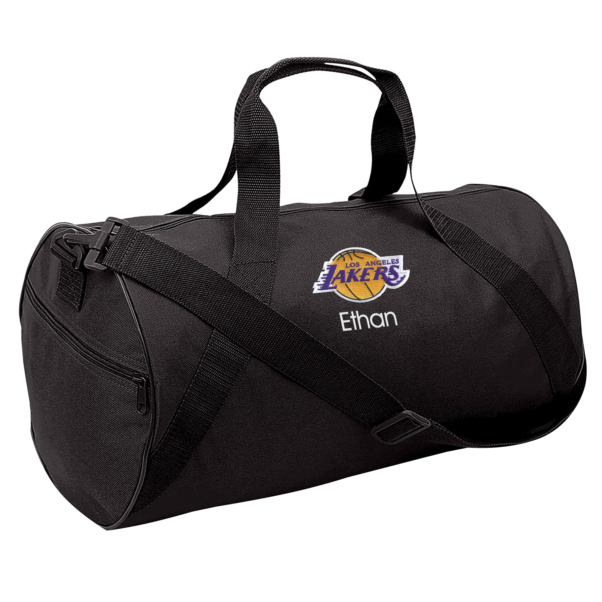 Los Angeles Lakers Youth Personalized Duffle Bag - Black