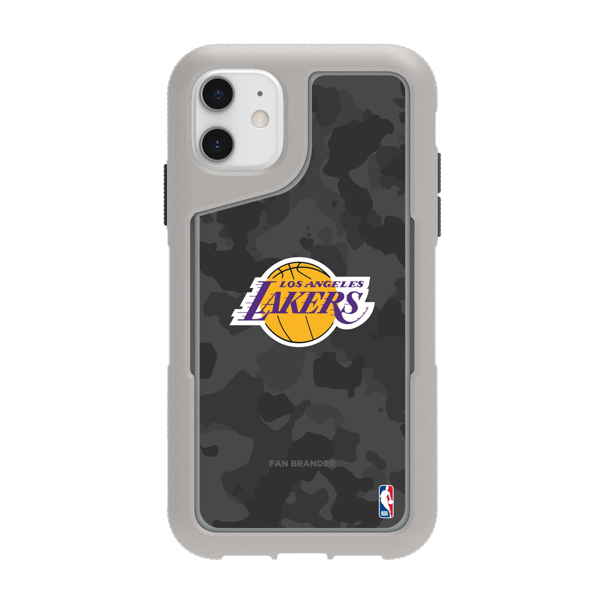 Los Angeles Lakers Griffin Survivor Endurance Camo iPhone Case - Gray