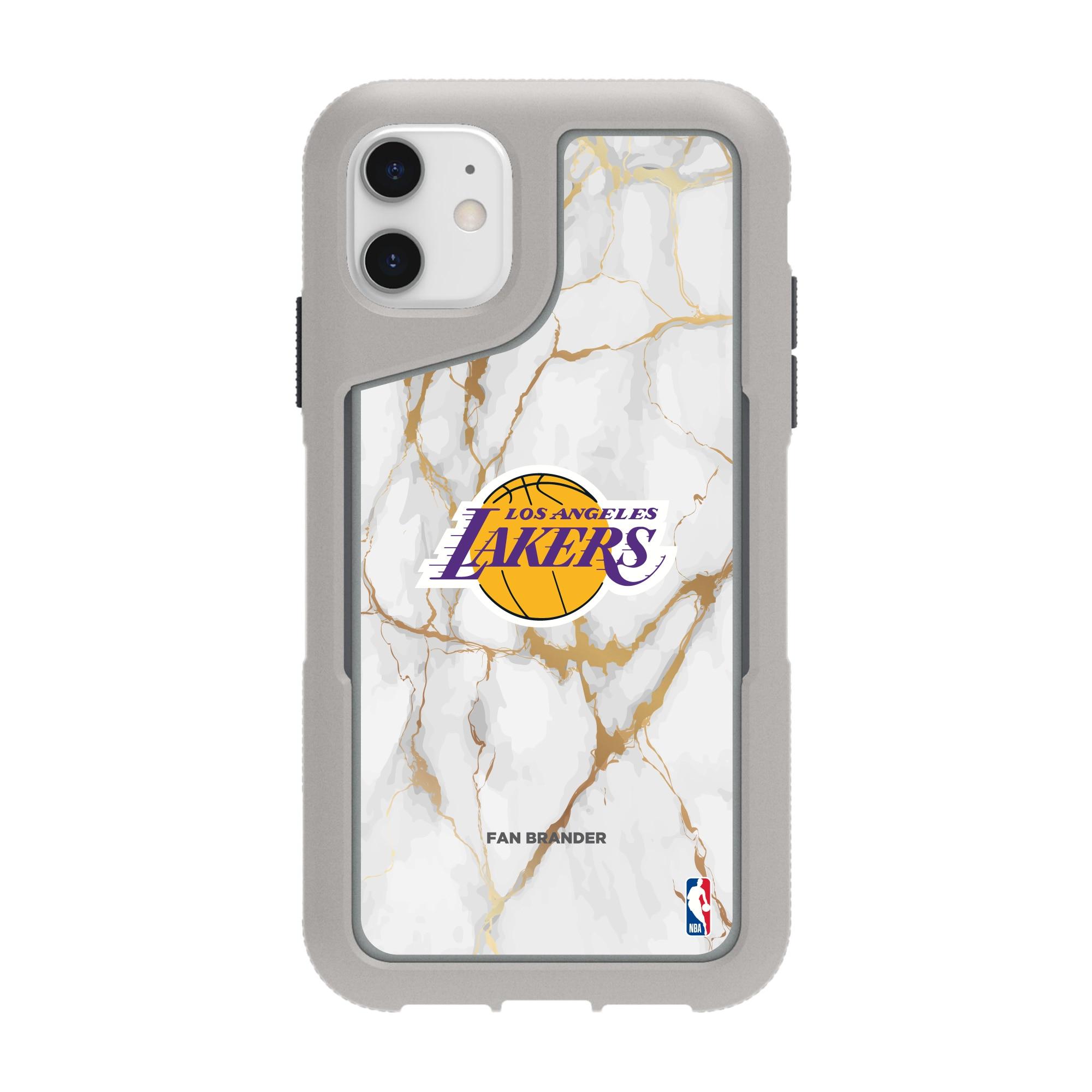 Los Angeles Lakers Griffin Survivor Endurance Marble iPhone Case - Gray