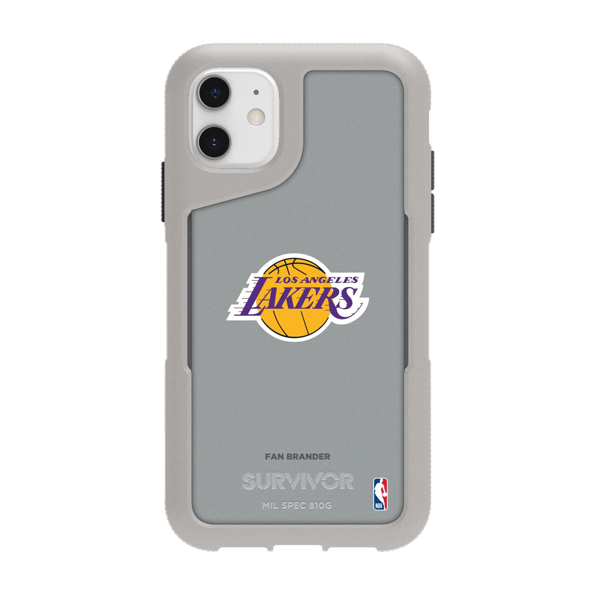 Los Angeles Lakers Griffin Survivor Endurance iPhone Case - Gray