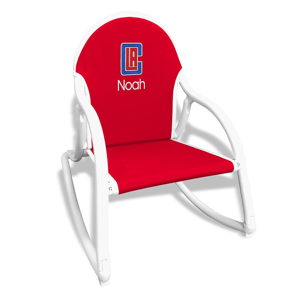 LA Clippers Children's Personalized Rocking Chair - Red
