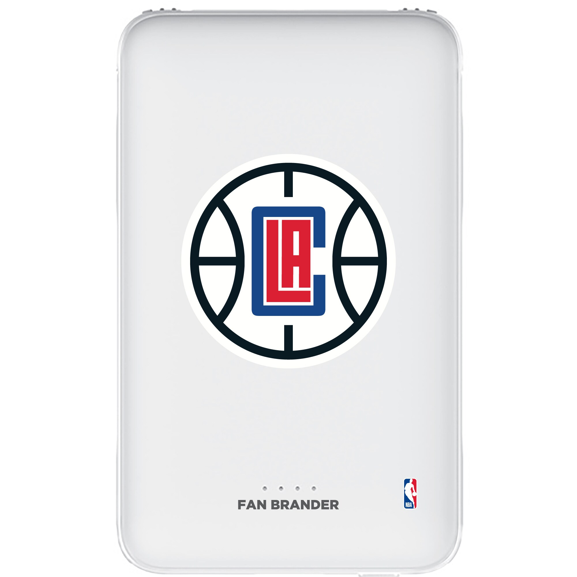 LA Clippers 5000mAh Portable Power Bank - White