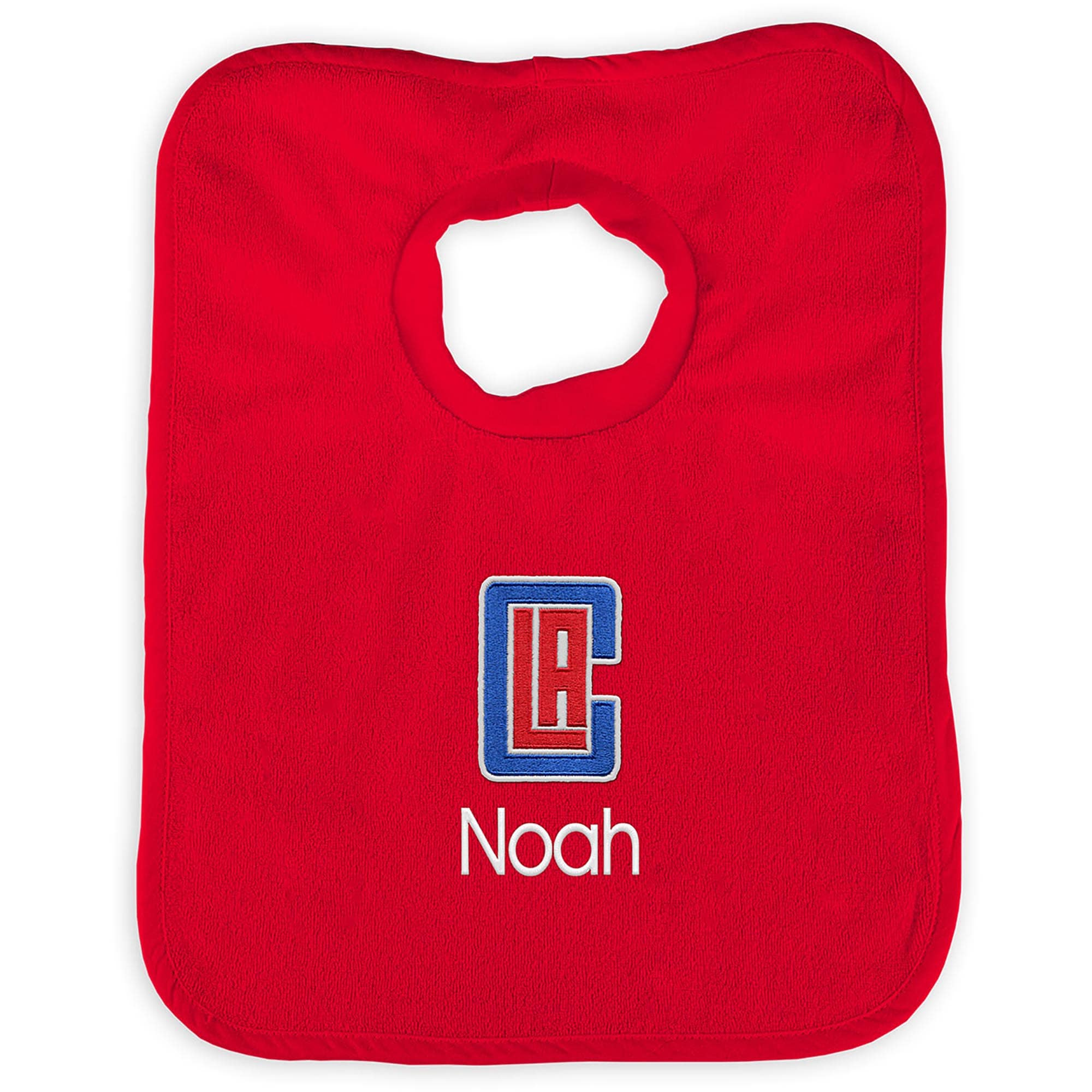 LA Clippers Infant Personalized Bib - Red
