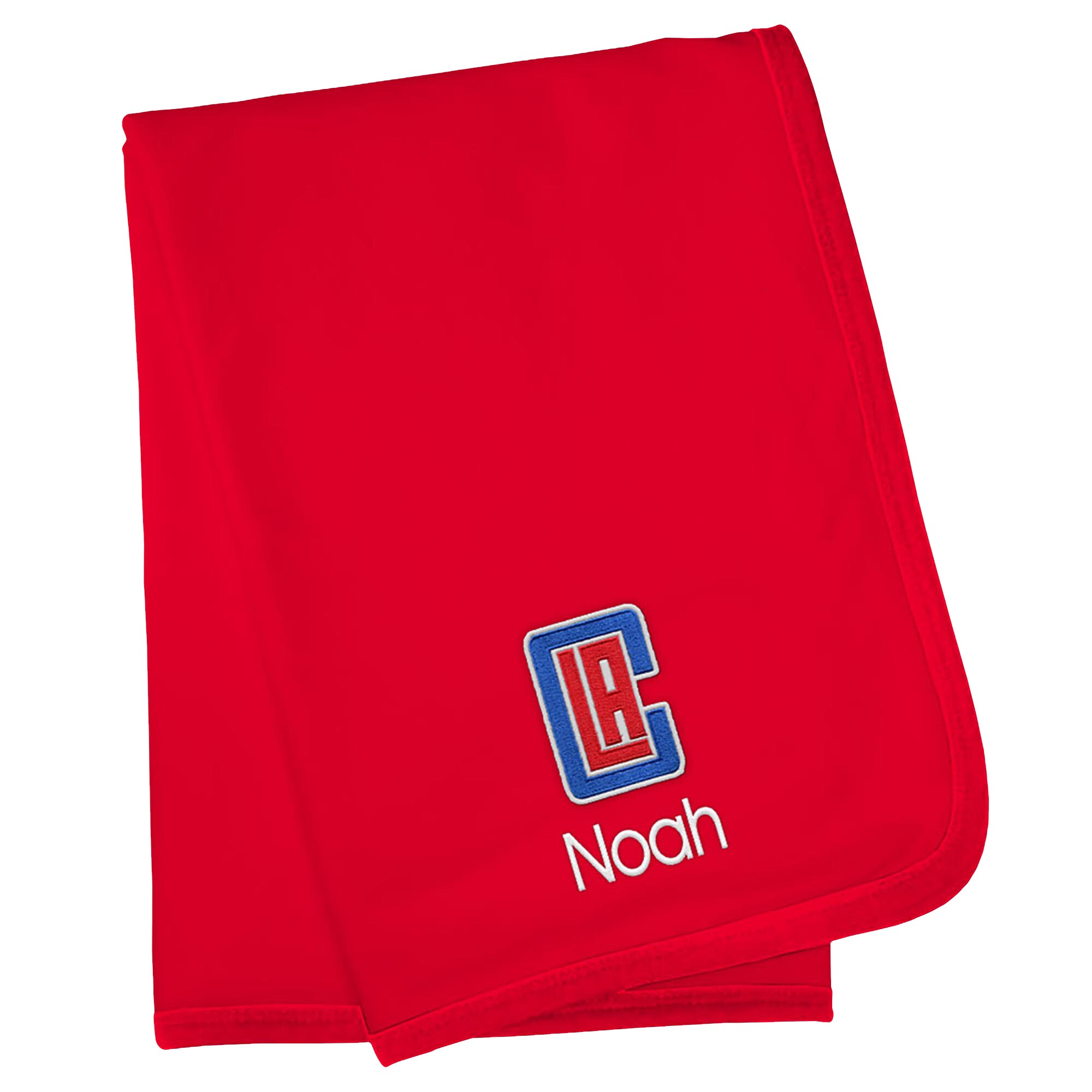 LA Clippers Infant Personalized Blanket - Red
