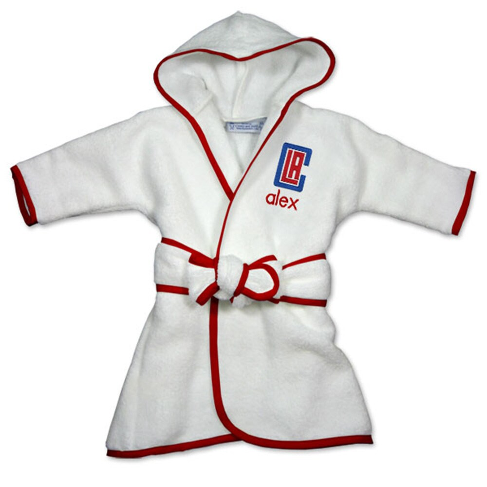 LA Clippers Infant Personalized Robe - White