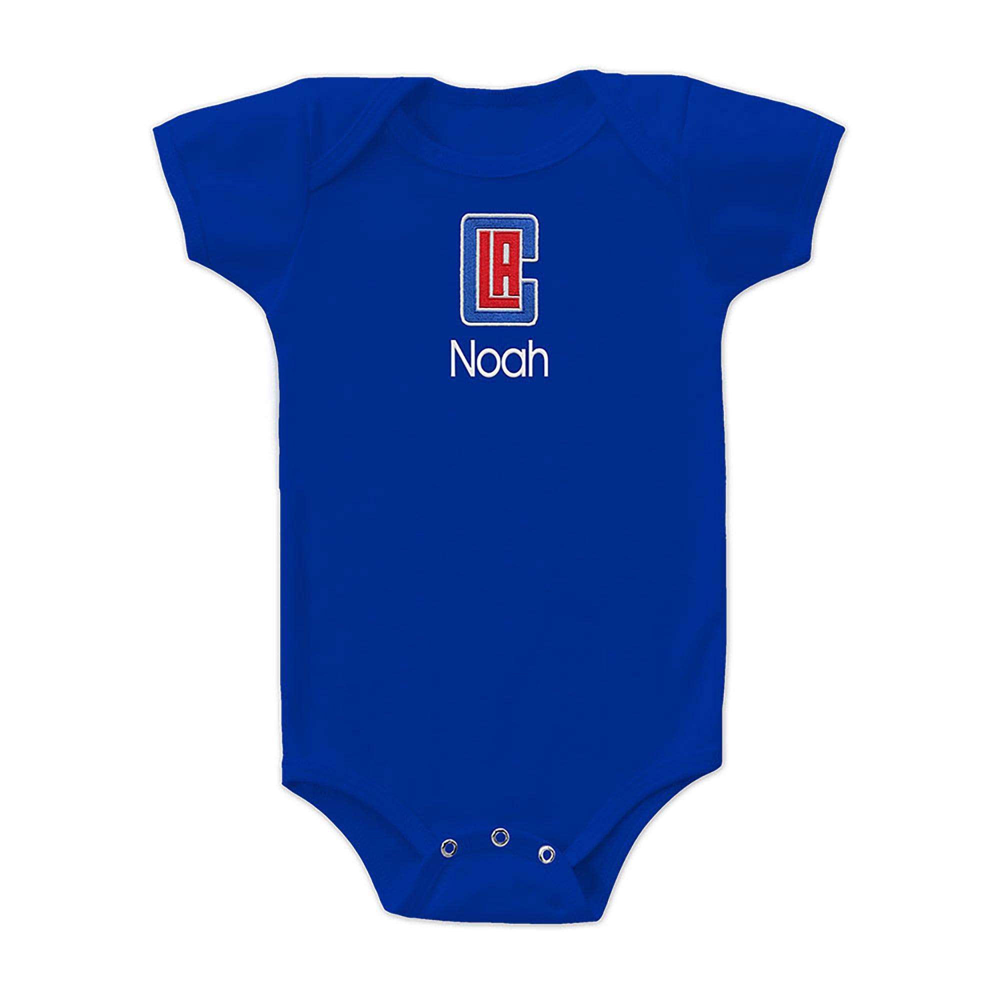 LA Clippers Infant Personalized Bodysuit - Royal