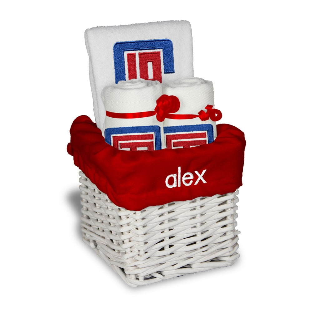 LA Clippers Personalized Small Gift Basket - White