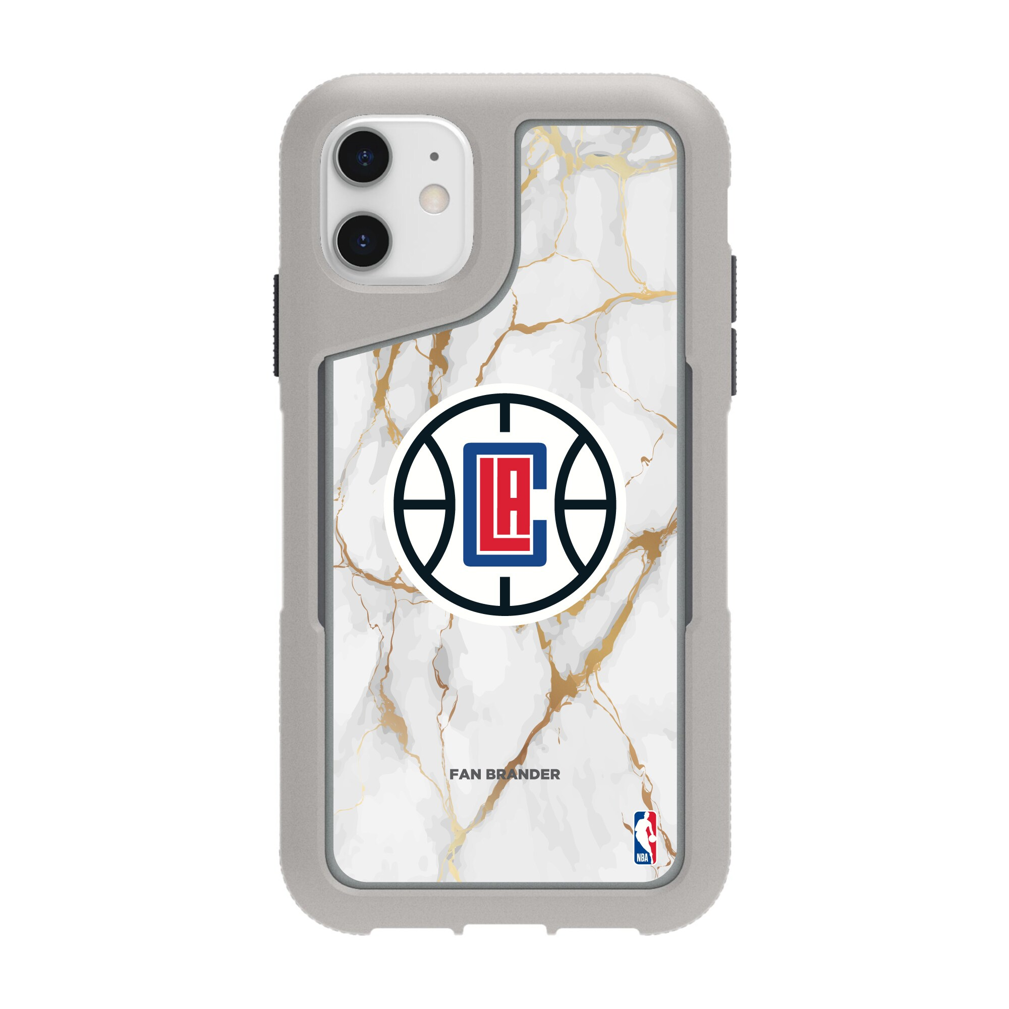 LA Clippers Griffin Survivor Endurance Marble iPhone Case - Gray