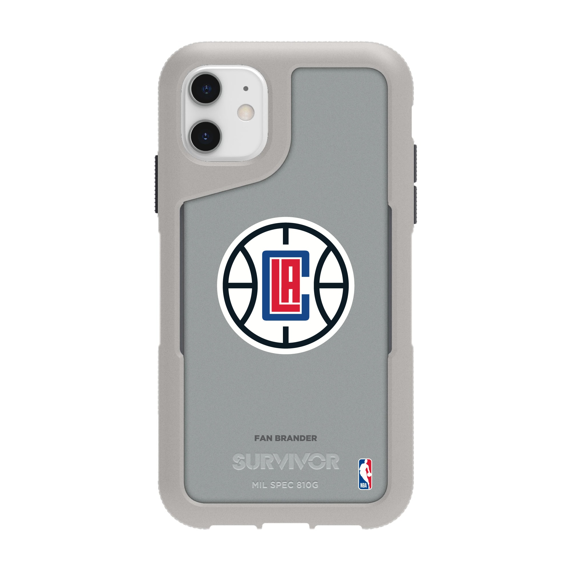 LA Clippers Griffin Survivor Endurance iPhone Case - Gray