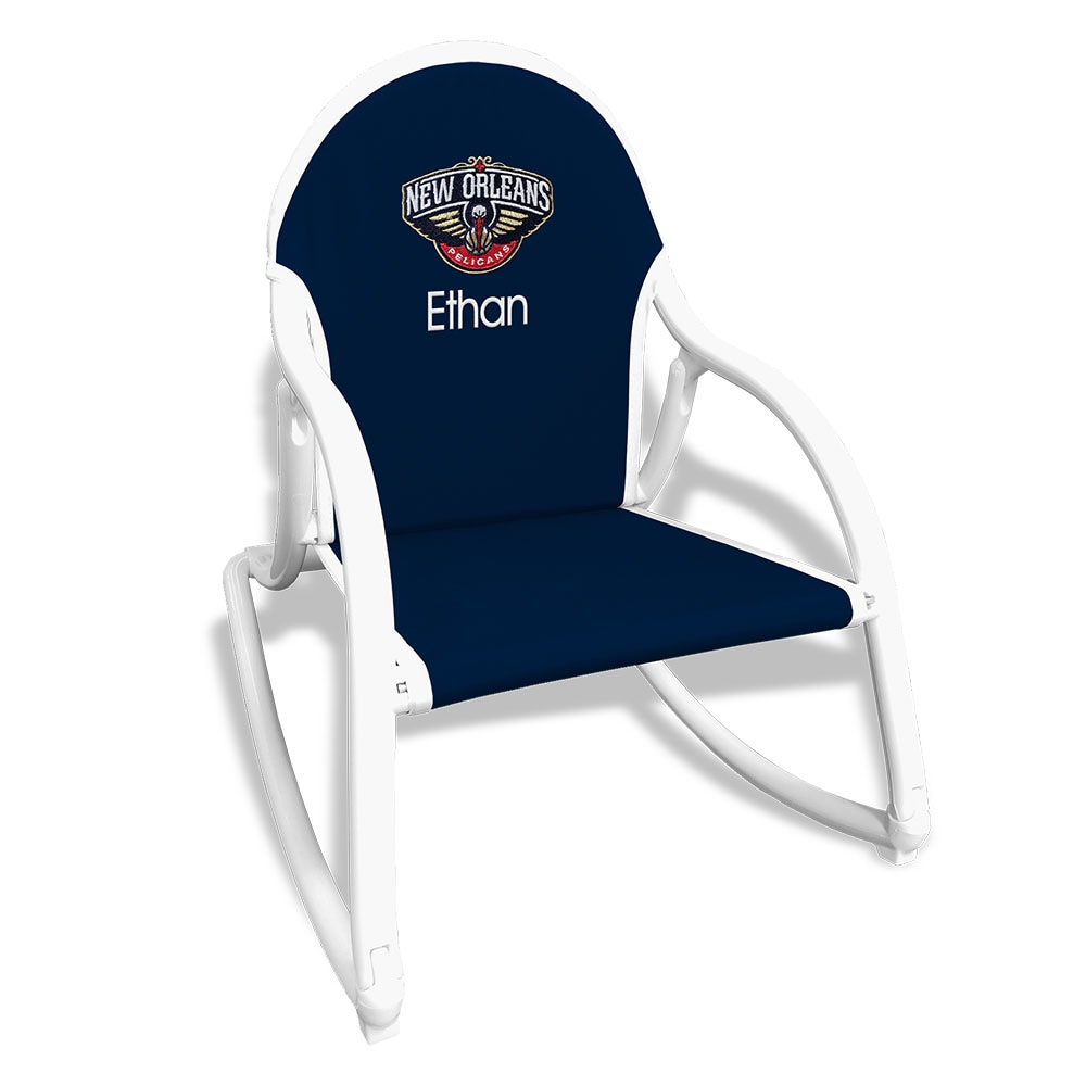 New Orleans Pelicans Children's Personalized Rocking Chair - Navy