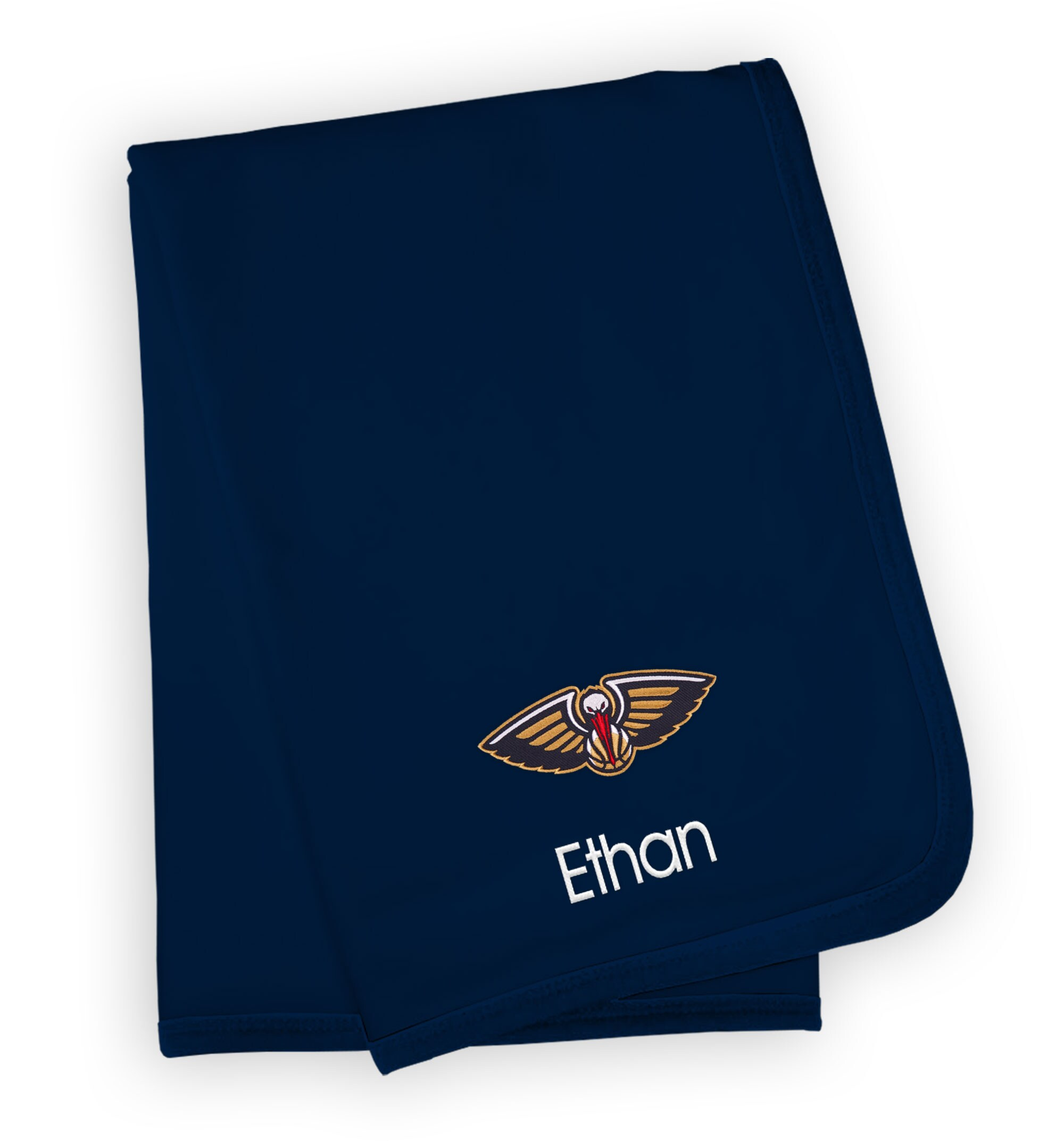 New Orleans Pelicans Infant Personalized Blanket - Navy